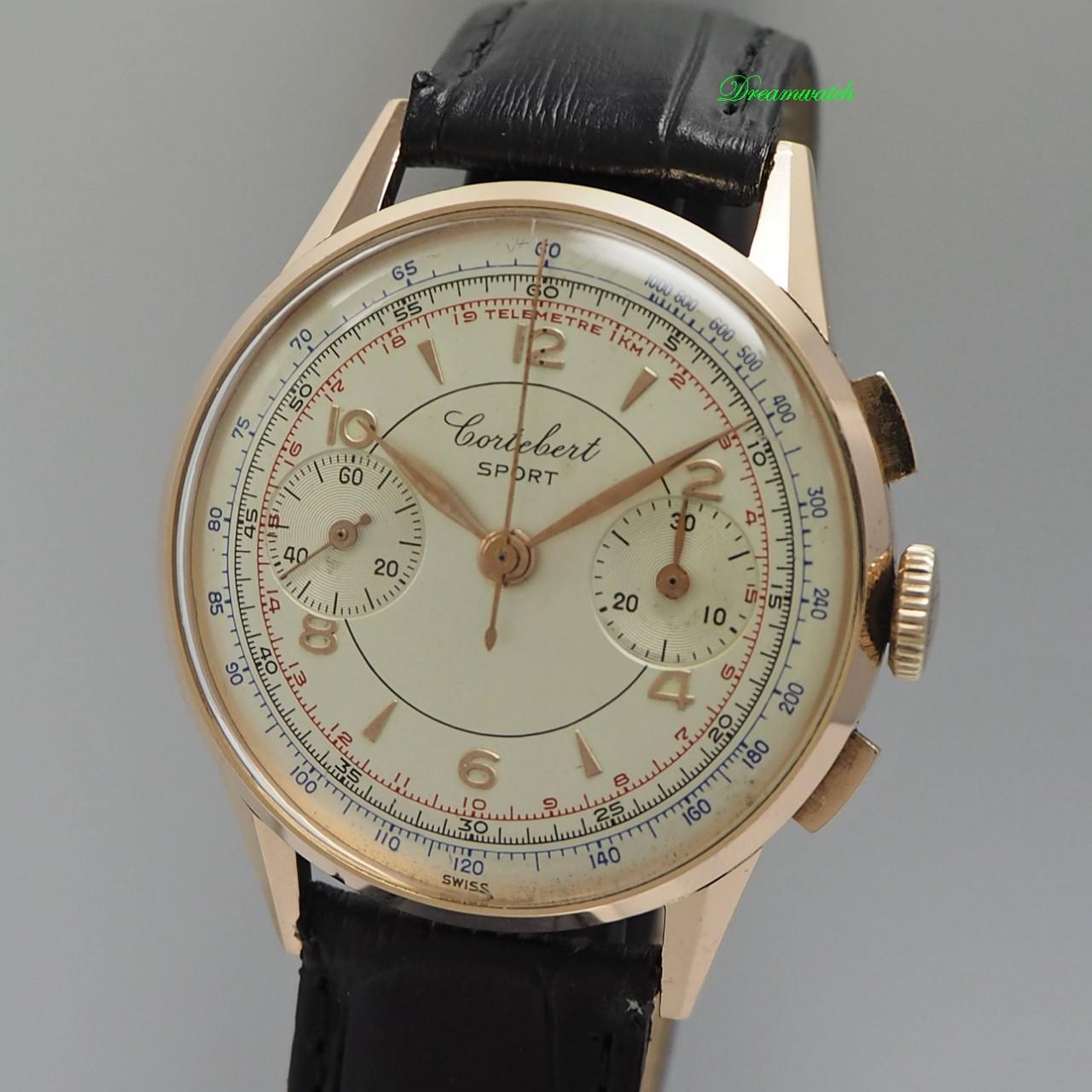 Cortebert Sport Chronograph Vintage -Gold 18k/750