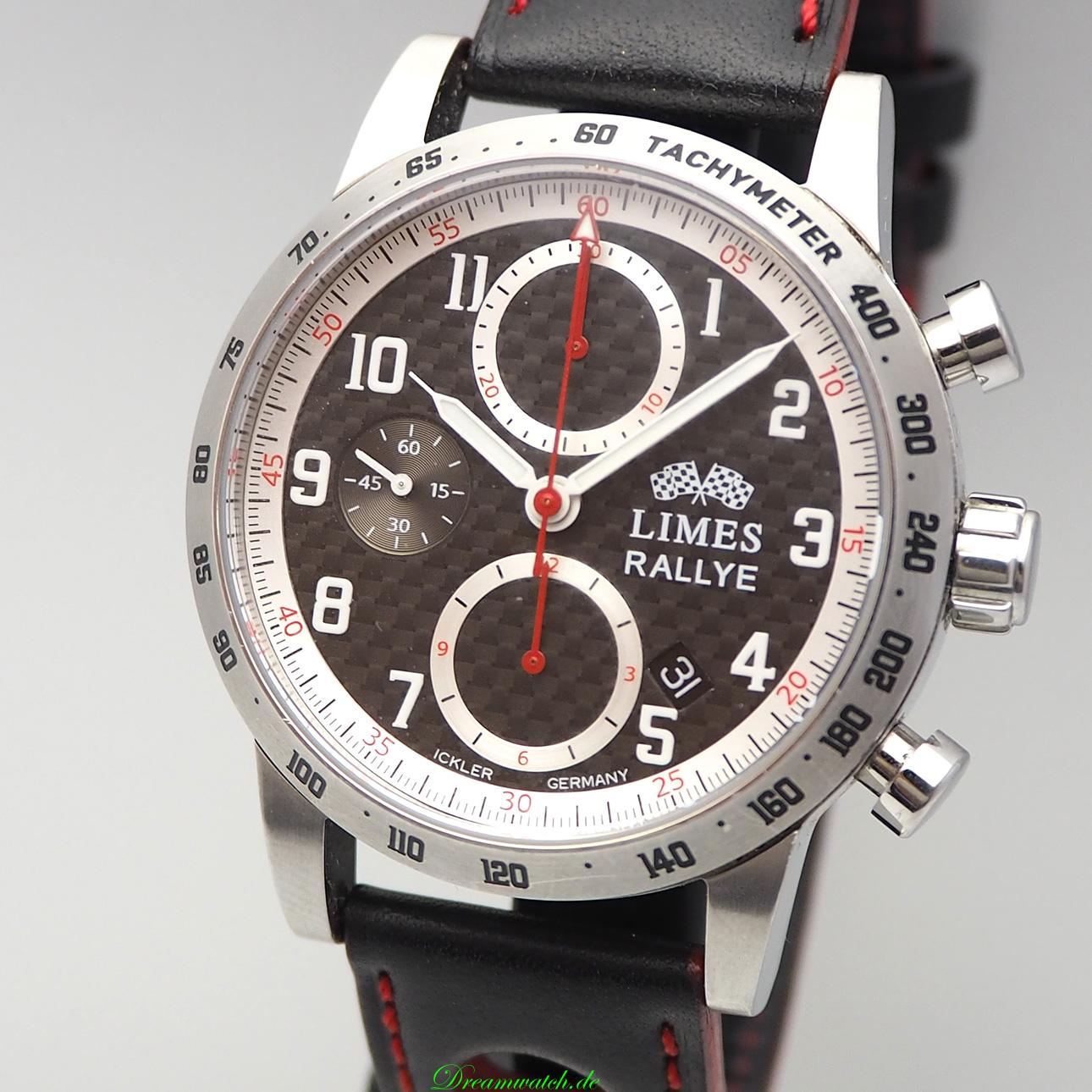 limes chronograph rallye limited edition 99 carbon ihr onlineshop f r gebrauchte luxusuhren. Black Bedroom Furniture Sets. Home Design Ideas