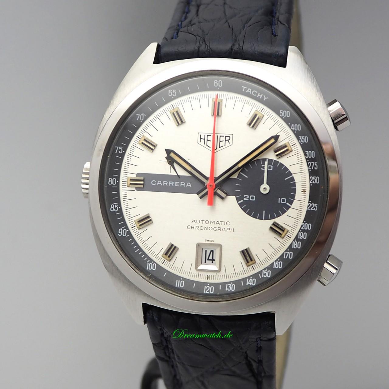 Heuer Carrera Vintage Chronograph Ref.: 1153 Cal.15 +Heuer Box