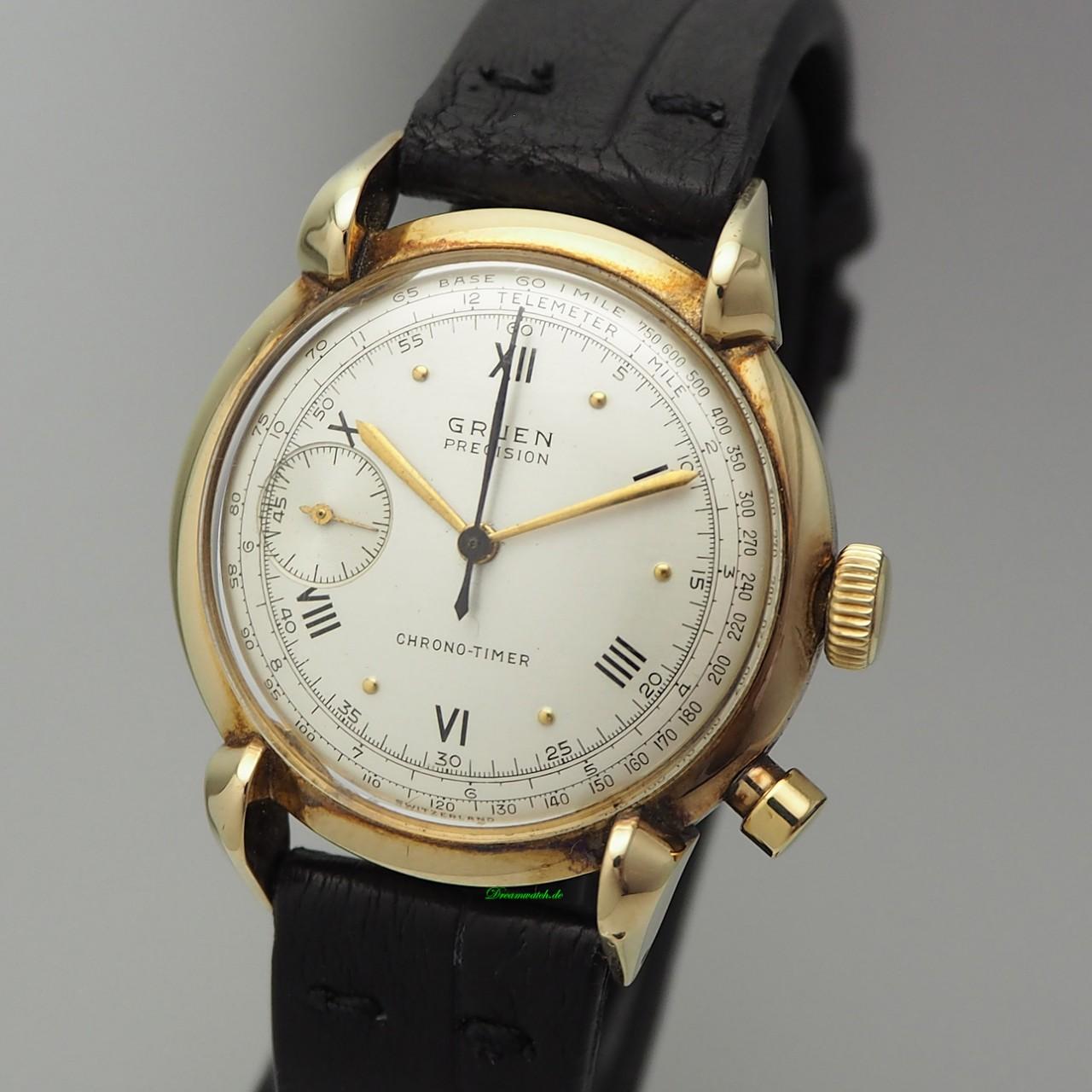 Gruen Vintage Chrono-Timer Chronograph, Gold 14k/585, very rare