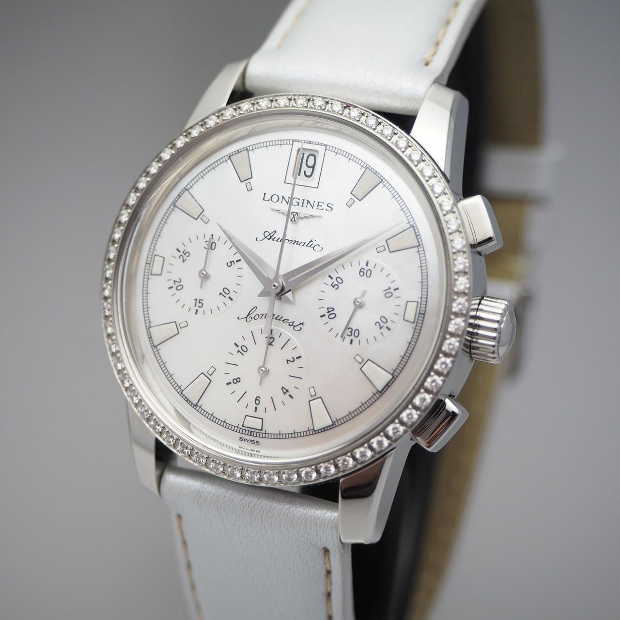 Longines Conquest Heritage Diamonds Chronograph Automatik Lady L1.141.0 -Box+Papiere