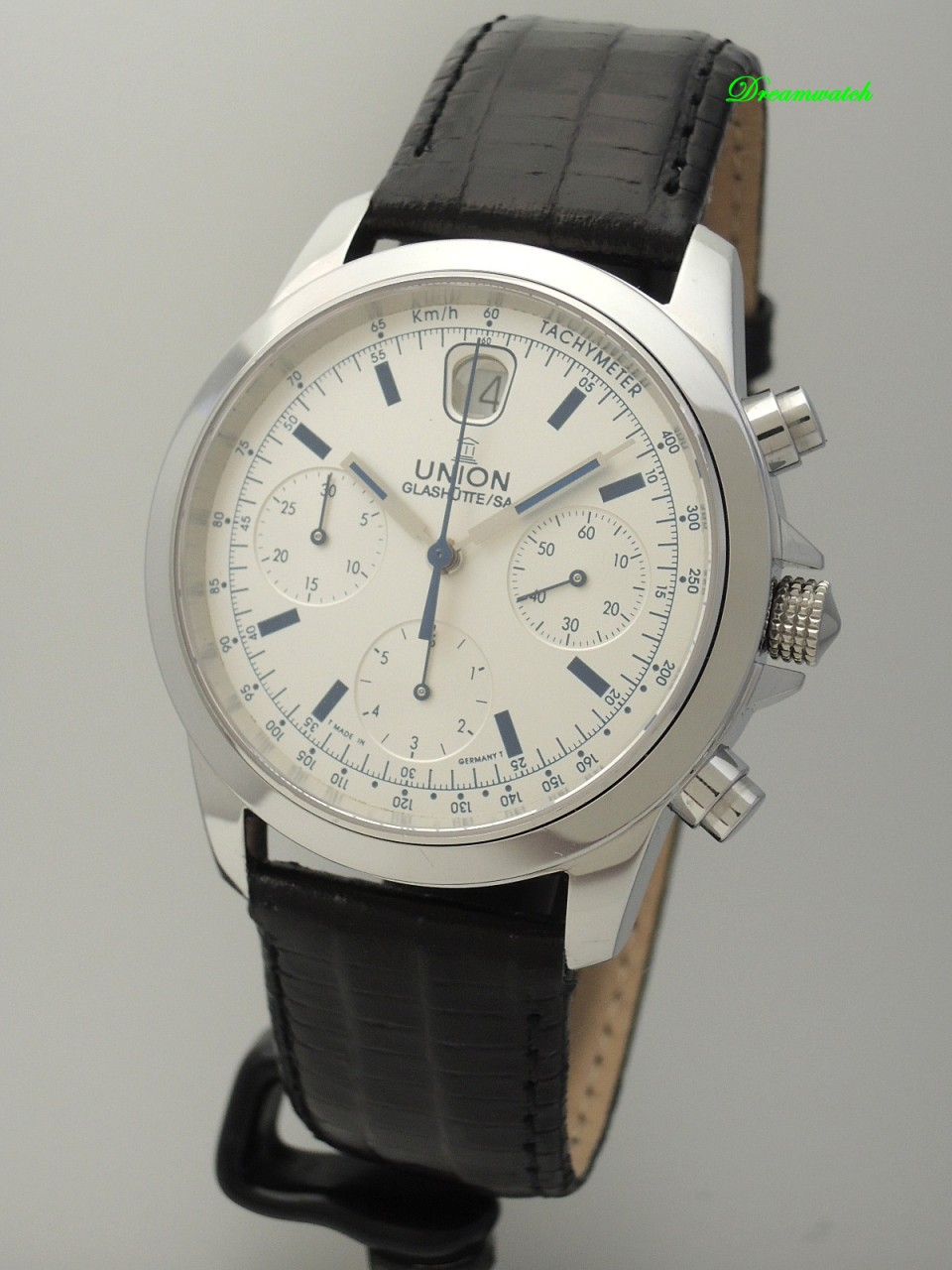 Union Glashütte Tradition Chronograph Stahl/Leder, Box+Papiere+Service