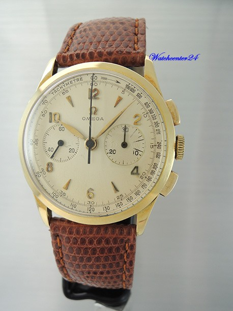 Vintage Omega Chronograph 2872 Cal.320 -Gold 18k/750 from 1956