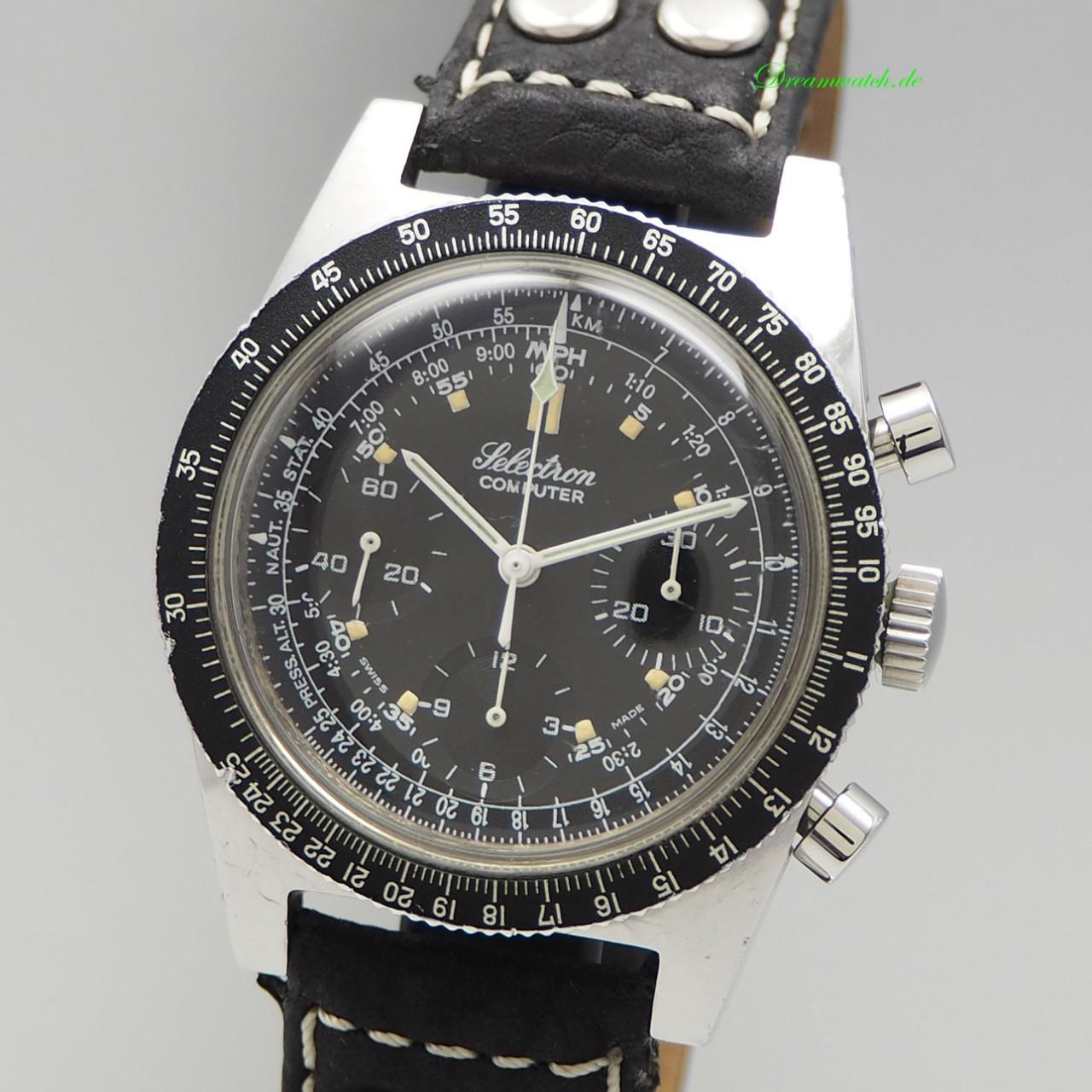 Ollech Wajs/ Selectron Cumputer Chronograph Vintage Valjoux 72
