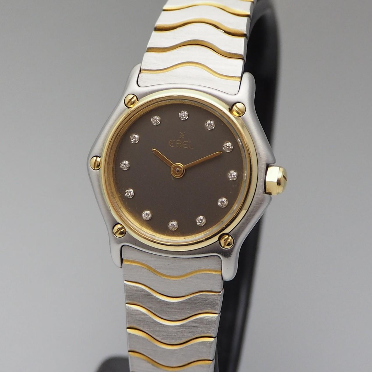 Ebel Lady Wave Classic Diamonds, Stahl/ Gold 18k, Box+Papiere