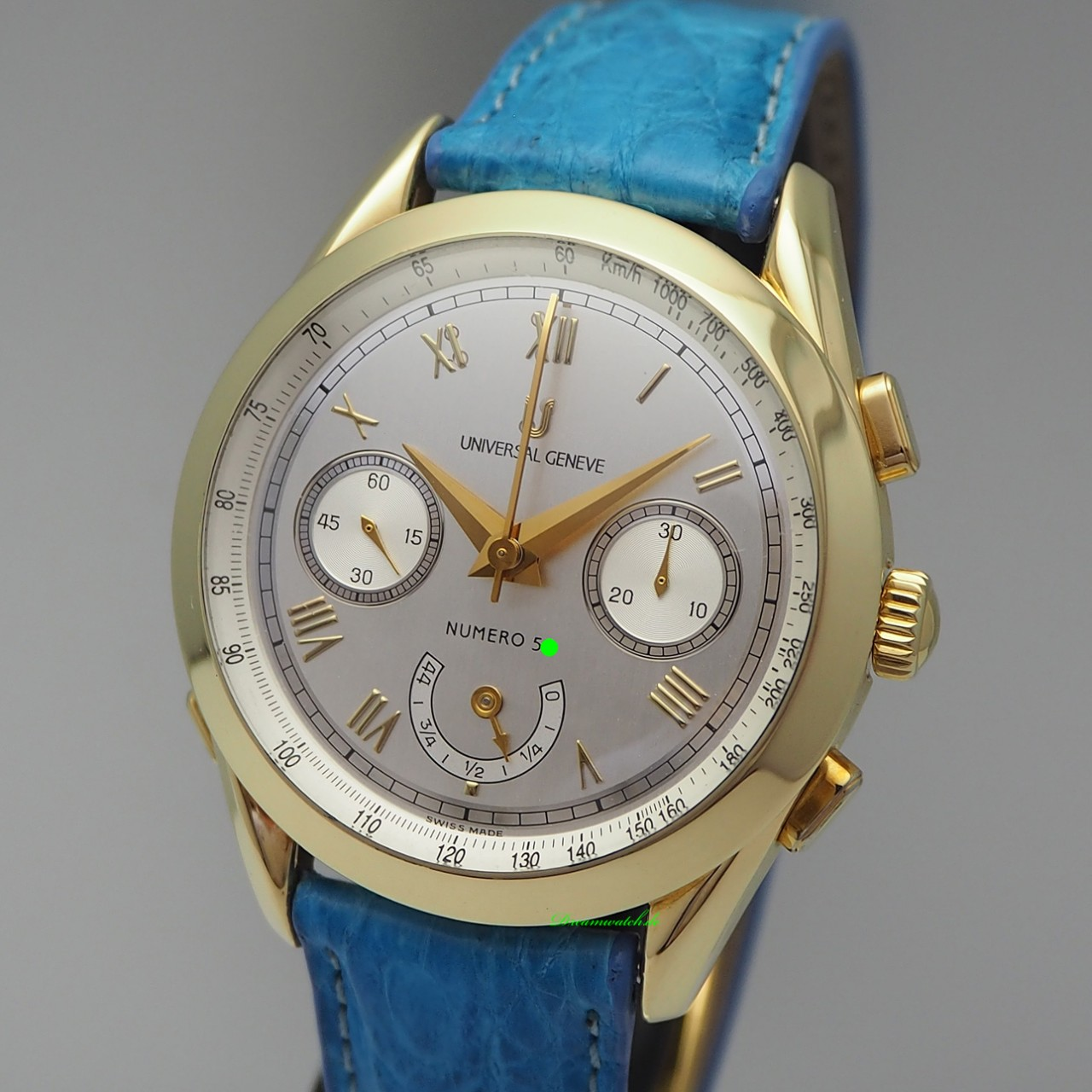"""Universal Geneve Rattrapante """"Master -Tech"""" Chronograph Limited Edition -Gold 18k/750"""