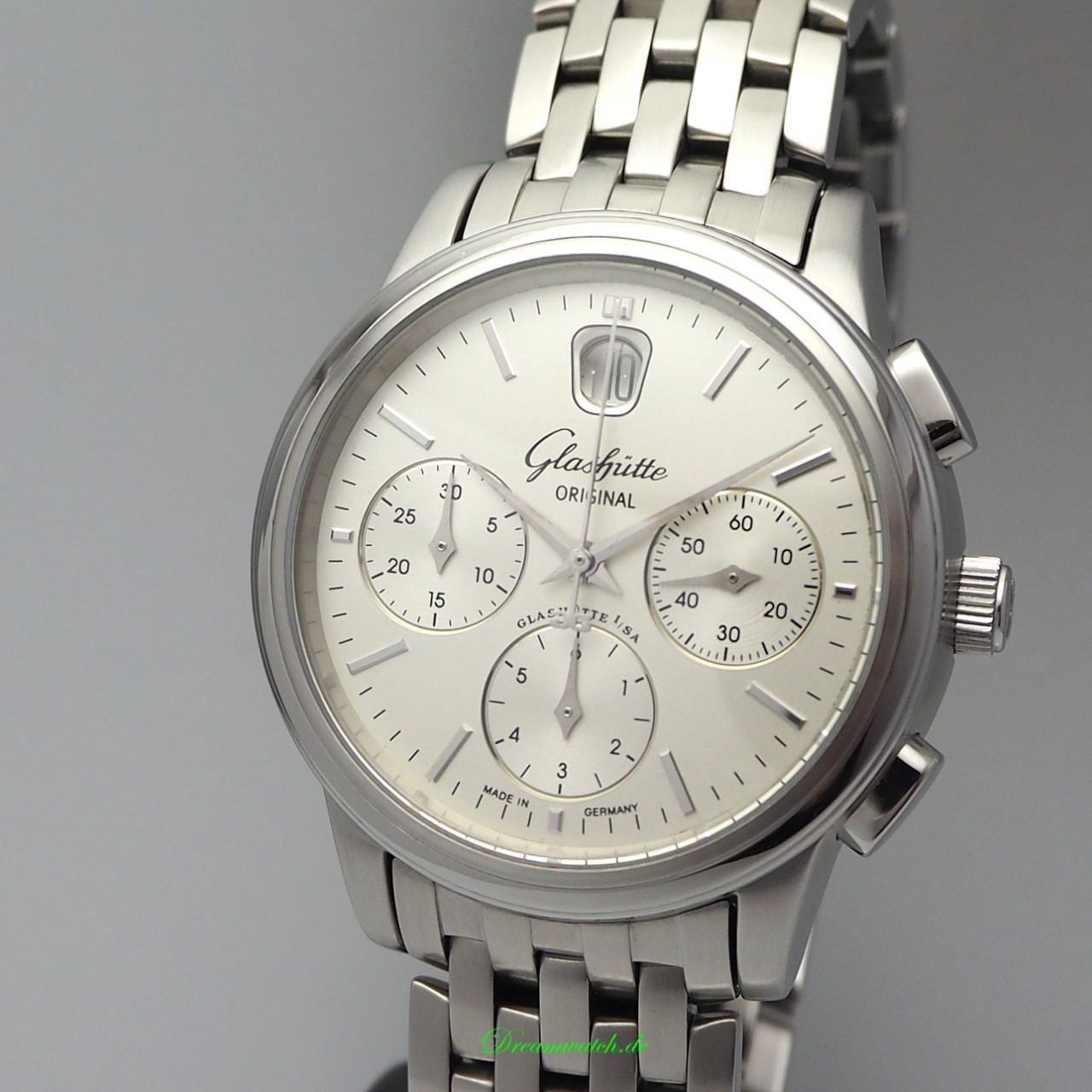 Glashütte Original Senator Chronograph Automatik Date Stahl/ Stahl, Box