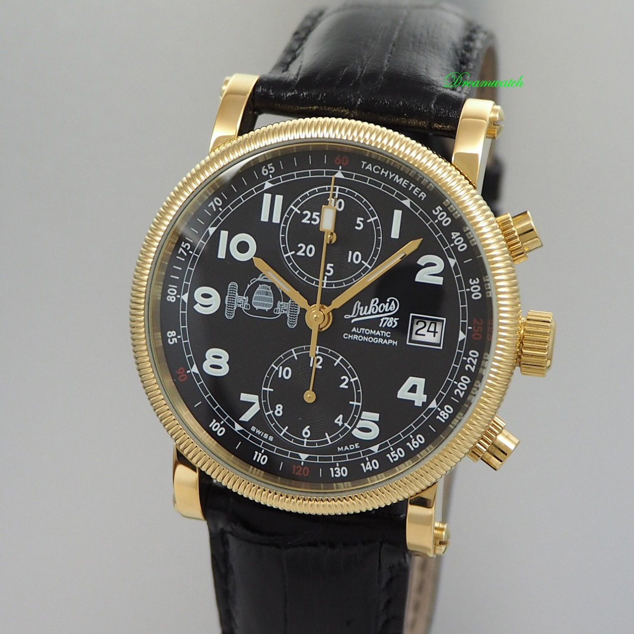 Dubois & Fils Racing Chronograph NOS, Box+Papiere