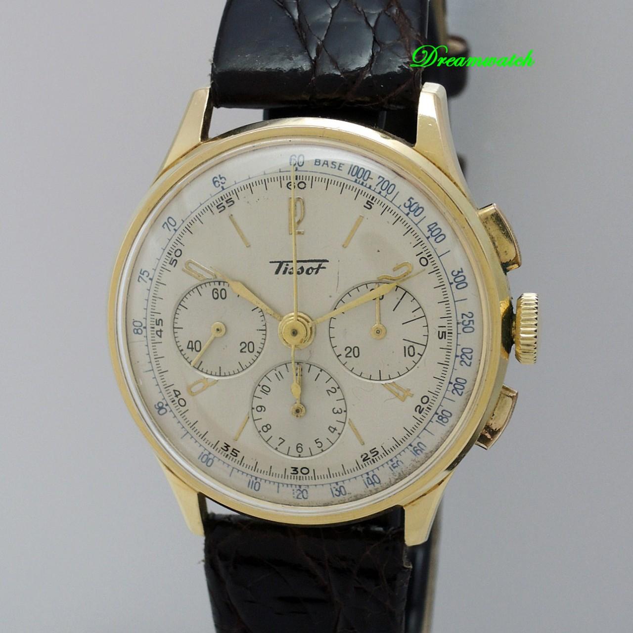 Tissot Vintage Chronograph CH27 18k Gold