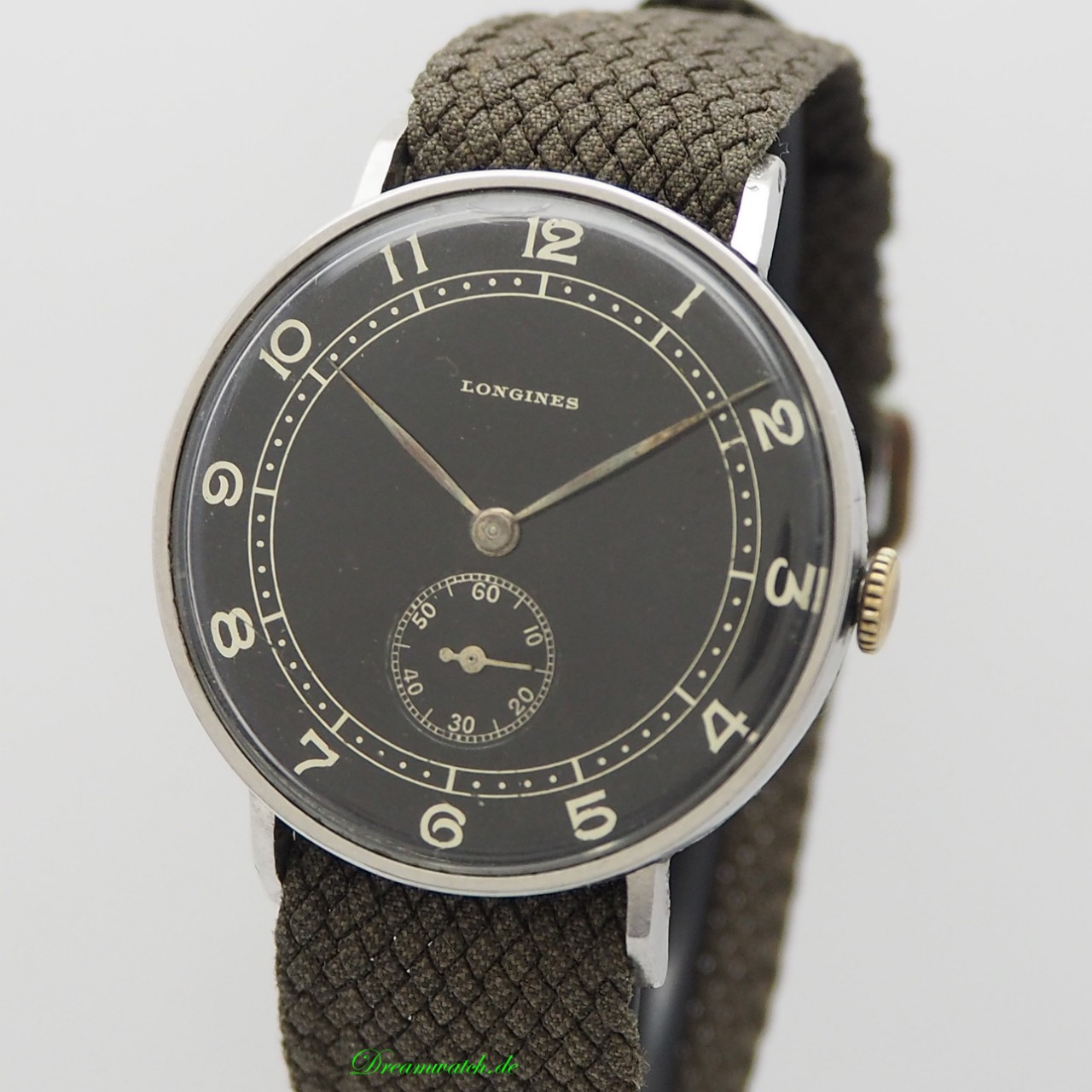 Longines vintage Calatrava 3- Zeiger BLACK from 1941 with Extract
