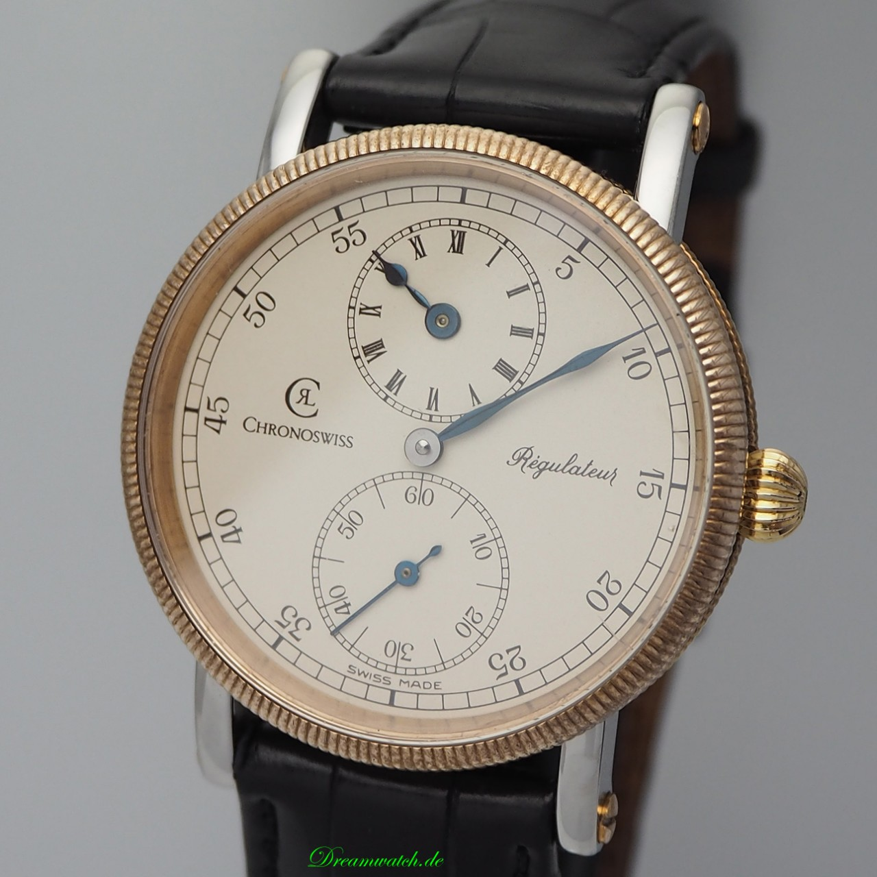 Chronoswiss Regulateur Handaufzug CH6326 Stahl/ Bronze
