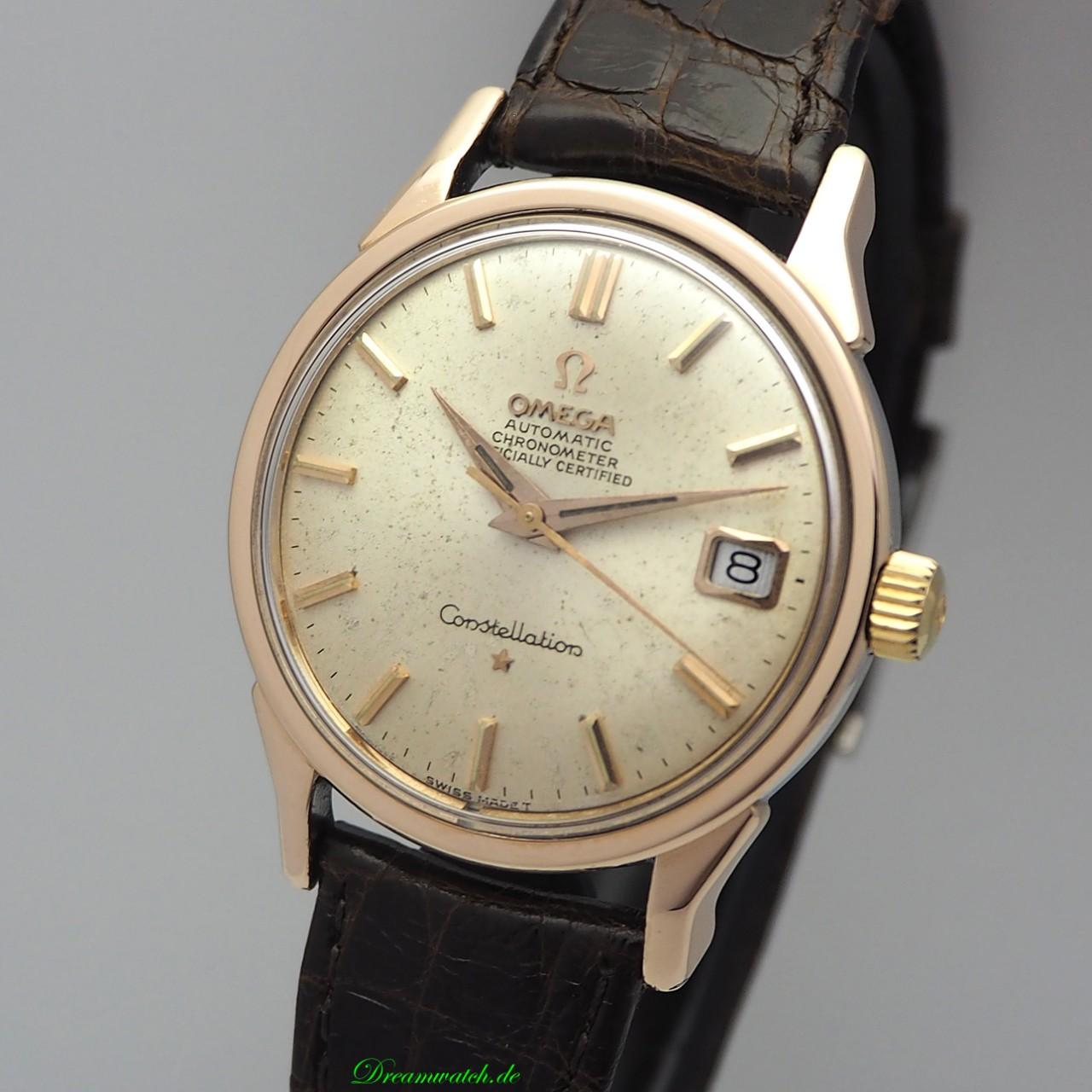 Omega Constellation Vintage Automatik Date Roségold/ Stahl 168.005