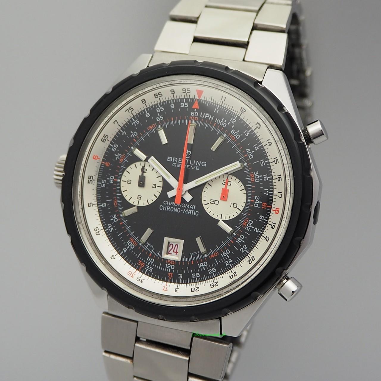 Breitling Chrono-Matic 1808 Vintage Chronograph Cal.12, Stahl/ Stahl