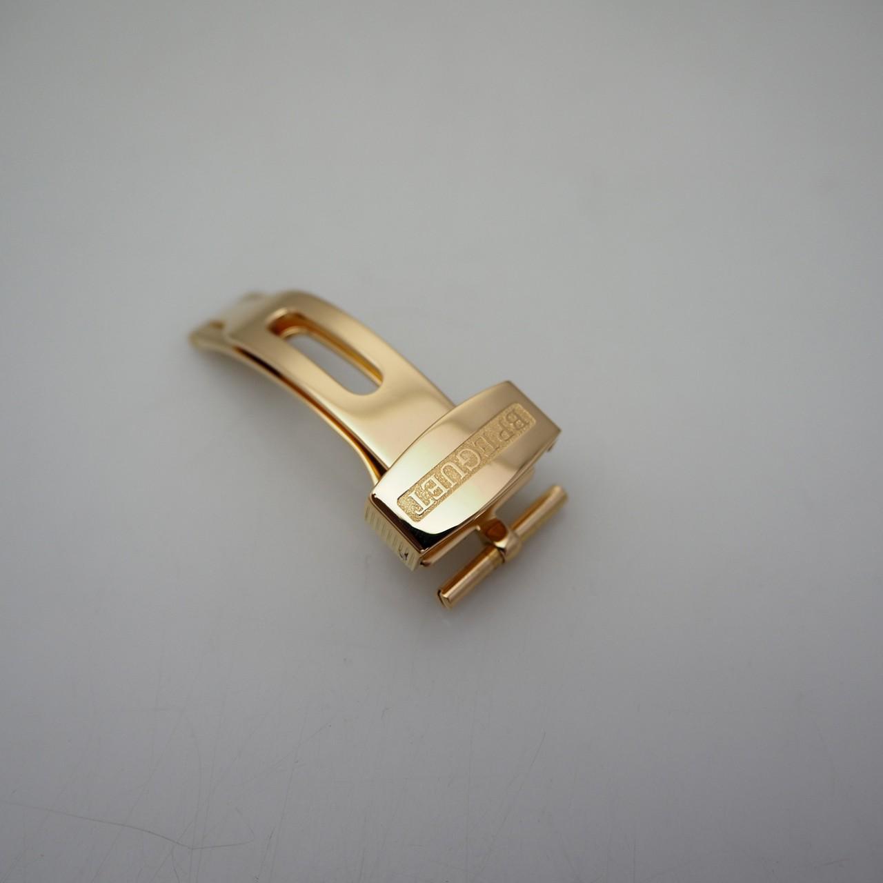 Breguet Faltschließe 16mm, Gold 18k/750