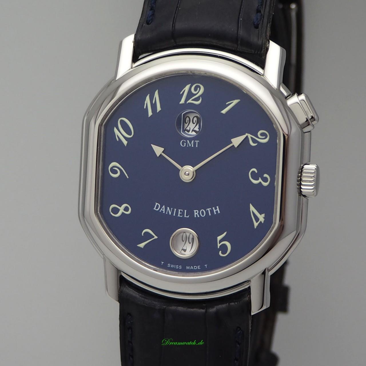 Daniel Roth Automatik GMT, Calendar 238 ST Stahl/Leder, Box / Perfect