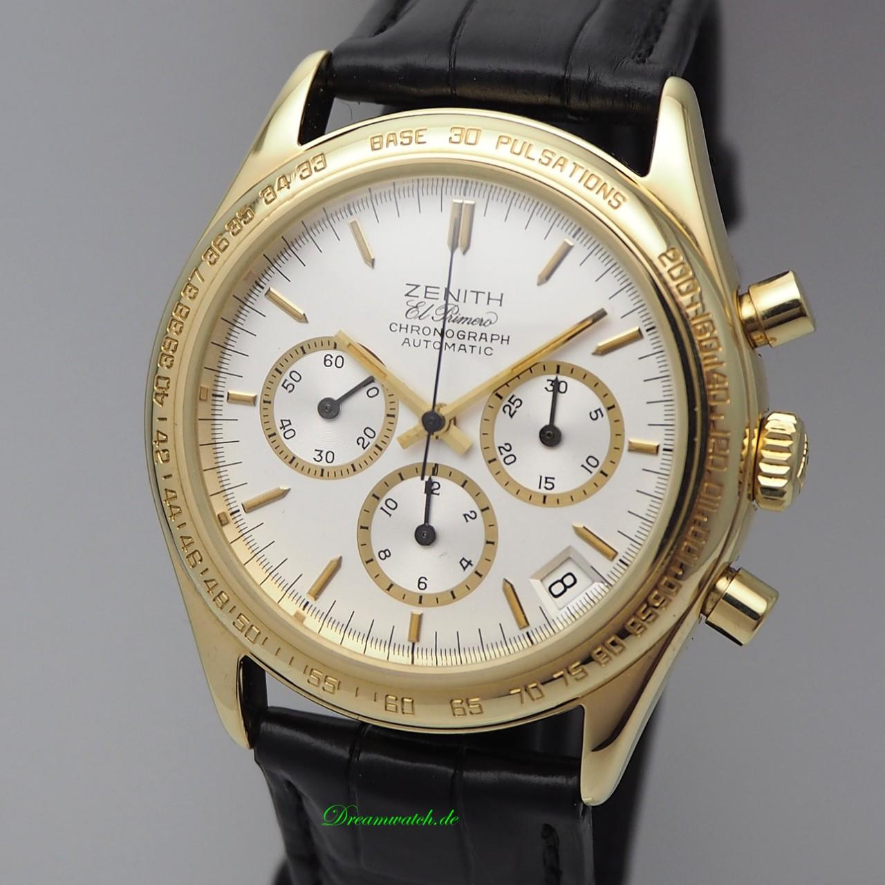 Zenith El Primero Chronograph 18k/750 Gold Pulsmeter/ Pulsations