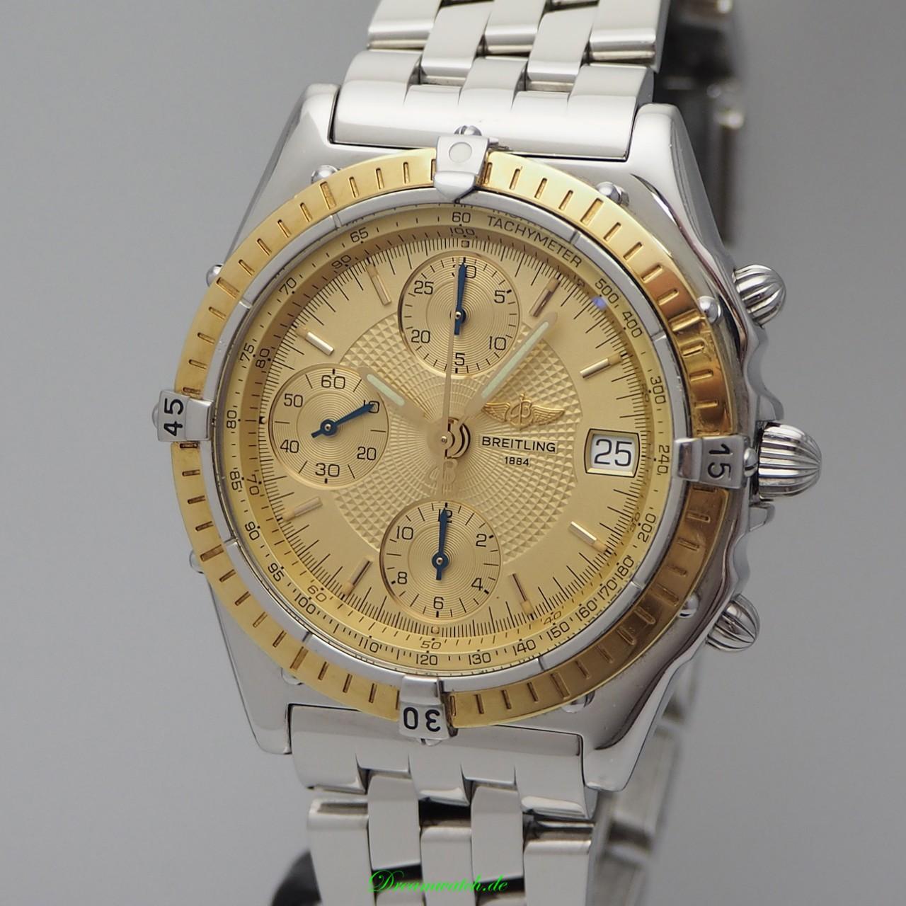 Breitling Chronomat Chronograph D13050, Stahl/ Gold, +Box+Papiere