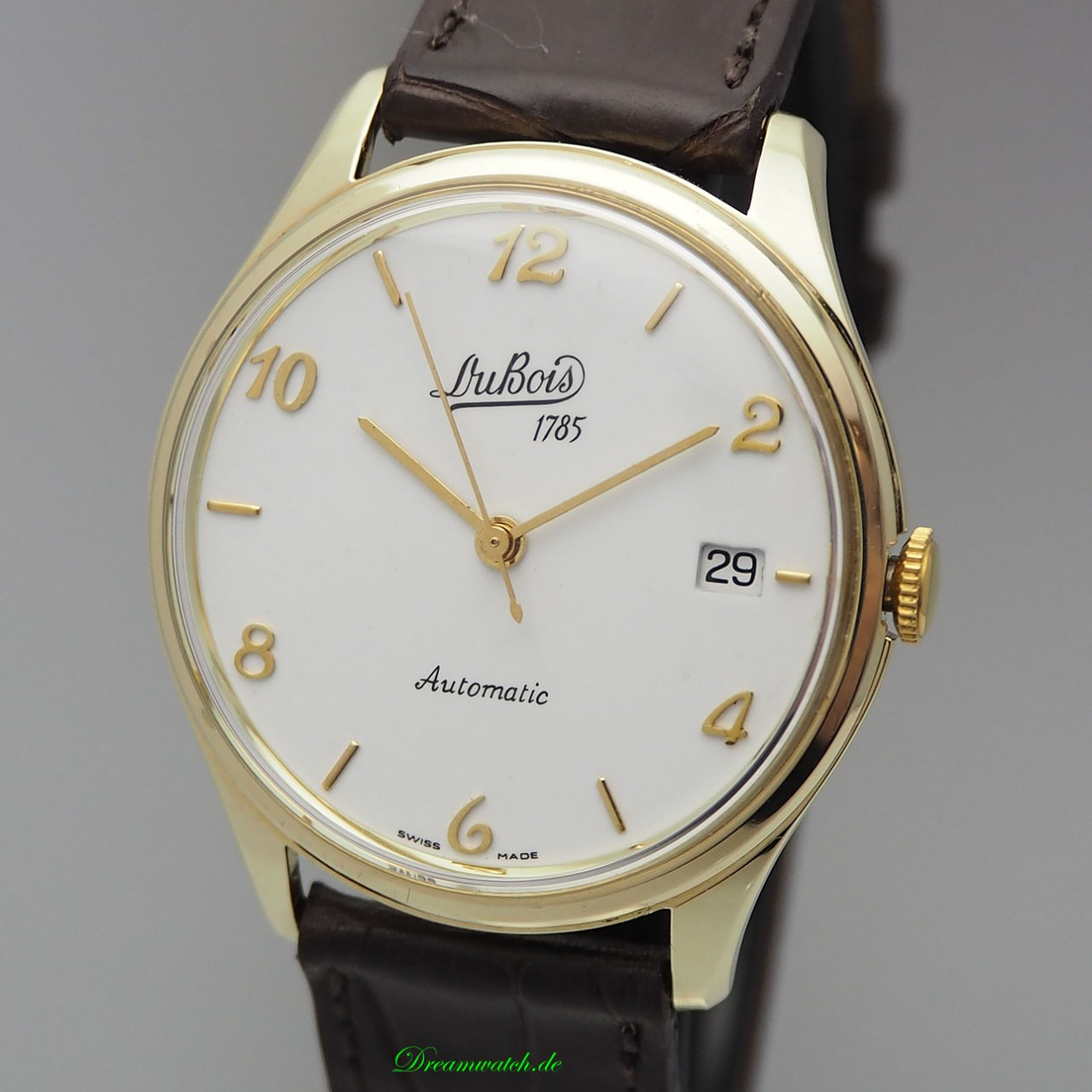 Dubois & Fils Automatik Date Gold 14k/ 585, Calatrava Dress watch very rare
