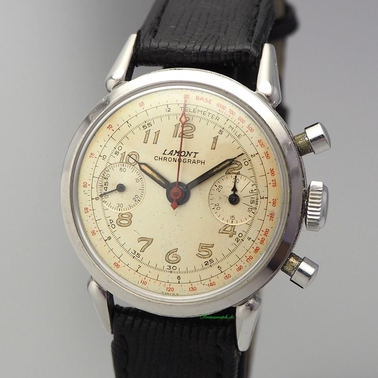 Lamont Vintage Chronograph Stahl, Venus 175