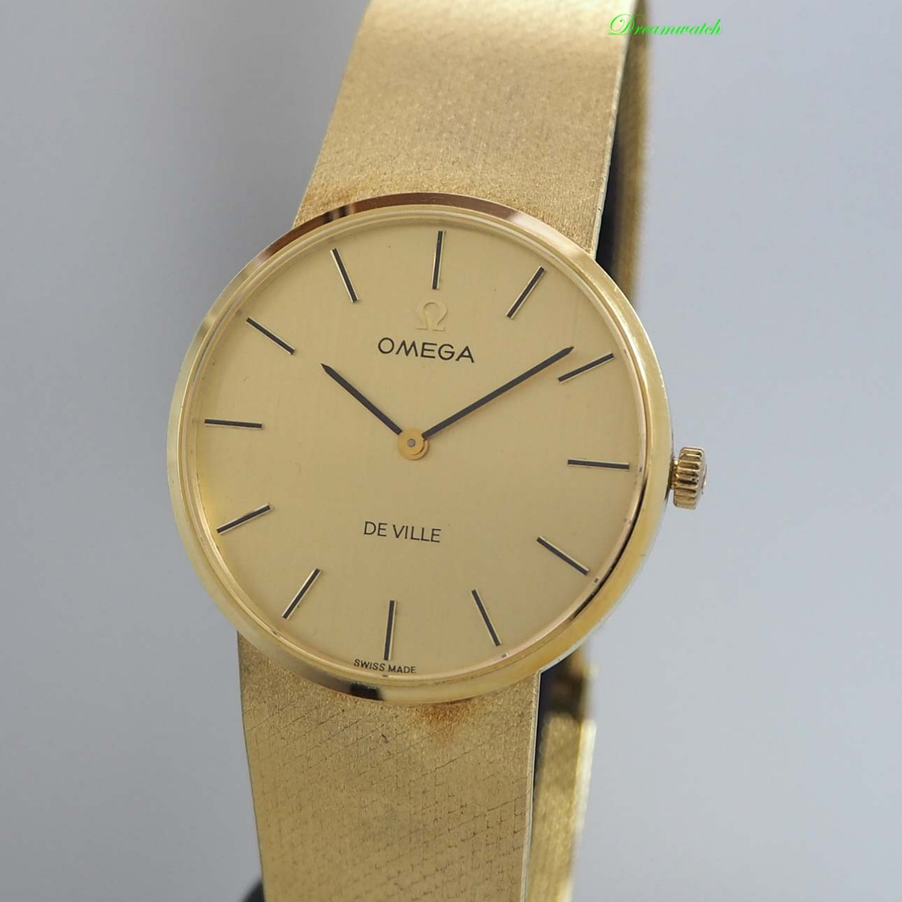 Omega De-Ville Klassik Gold 18k/750 Handaufzug, Goldband 18k