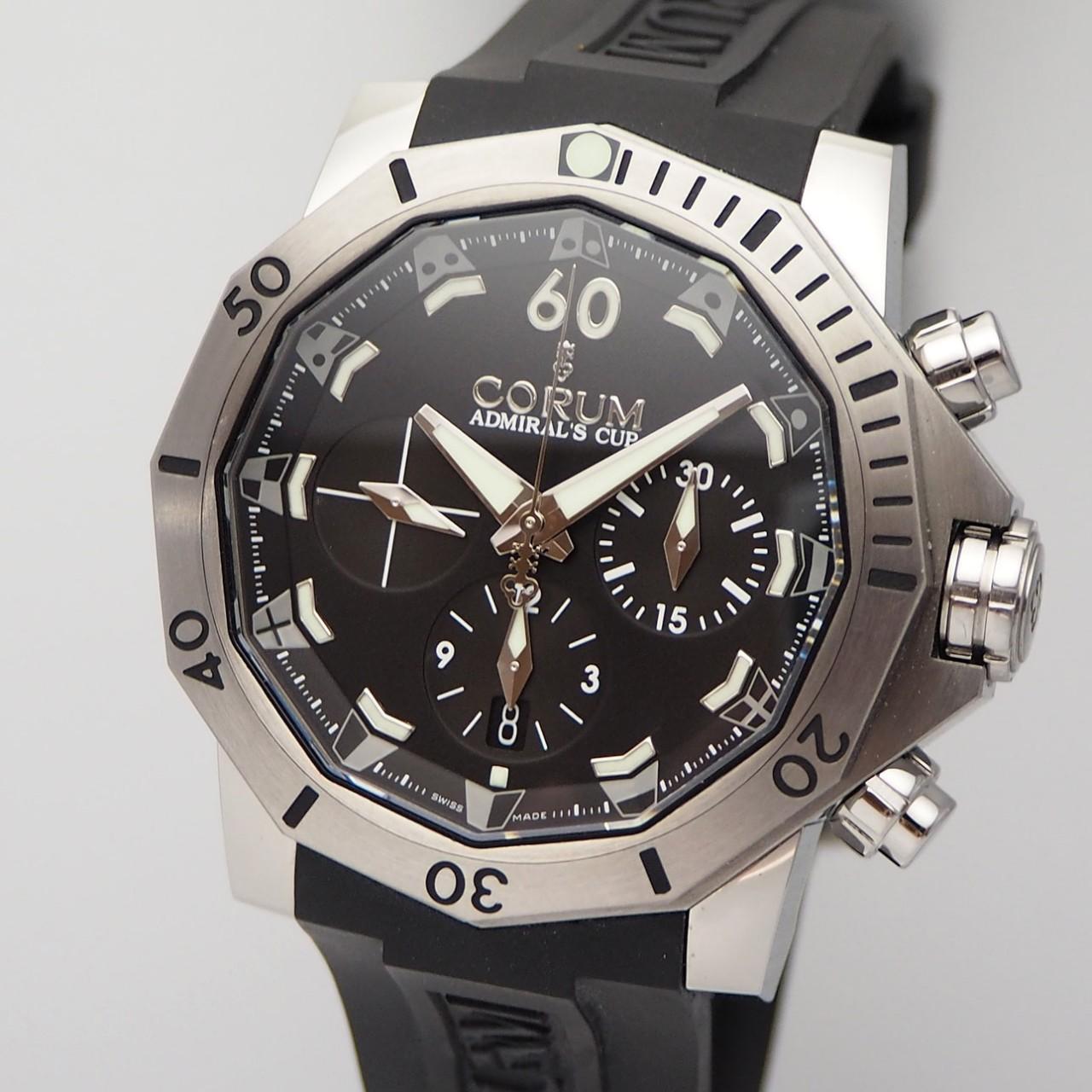 Corum Admirals Cup Seafender 46 Dive Chronograph -Stahl/ Kautschuk, Box+Papiere