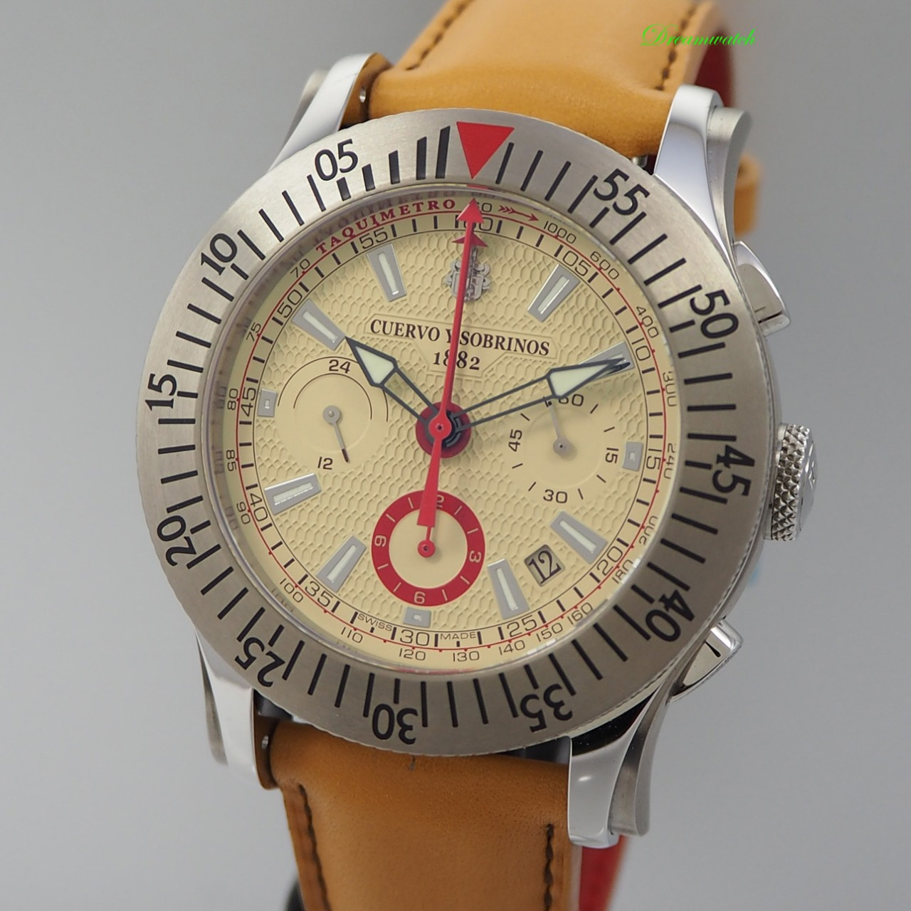 "Cuervo Sobrinos Robusto Chronograph ""Summer Marathon"" 2175.1CSM NEU, B&P"
