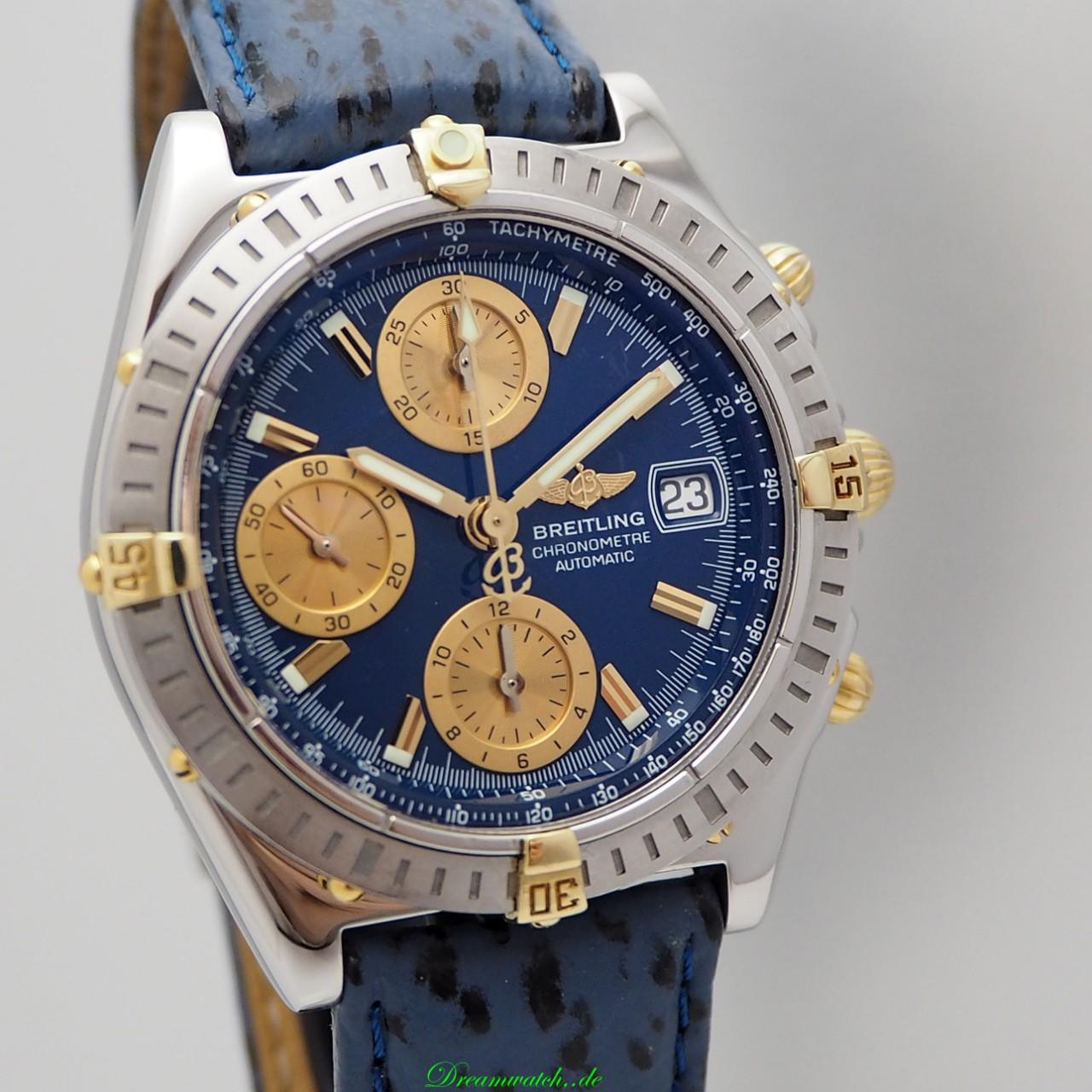 Breitling Chronomat GT Chronograph B13352, Stahl/ Gold, +Box