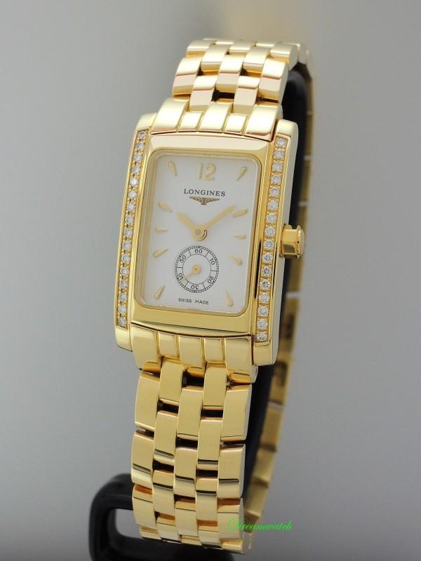 Longines Dolce Vita Diamonds Gold 18k/750 -Box+Papiere