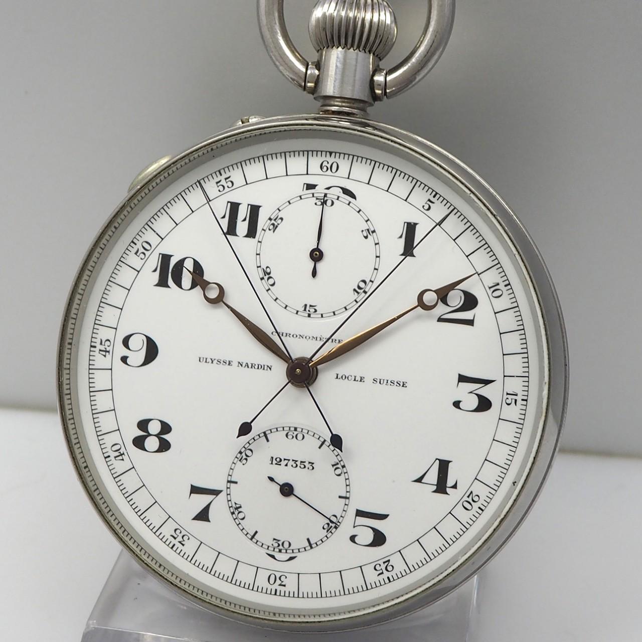 Taschenuhr Ulysse Nardin Beobachtungschronometer Rattrapante um 1955