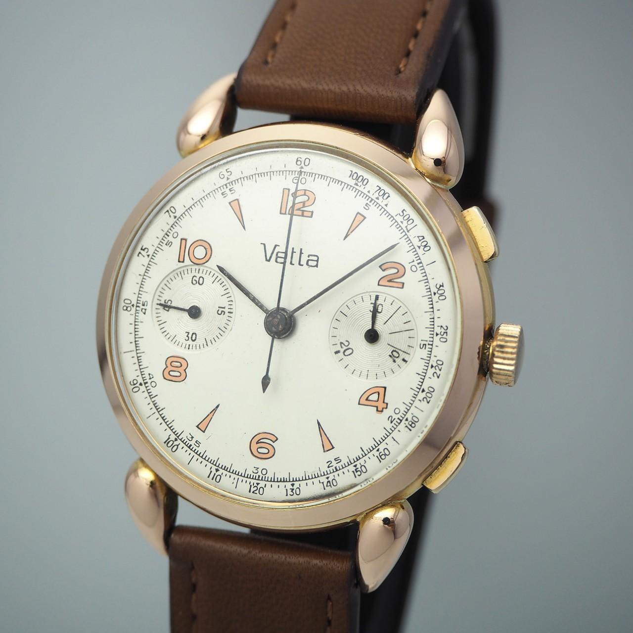 Vetta Chronograph Vintage Cal.Valjoux 22 -Gold 18k/750