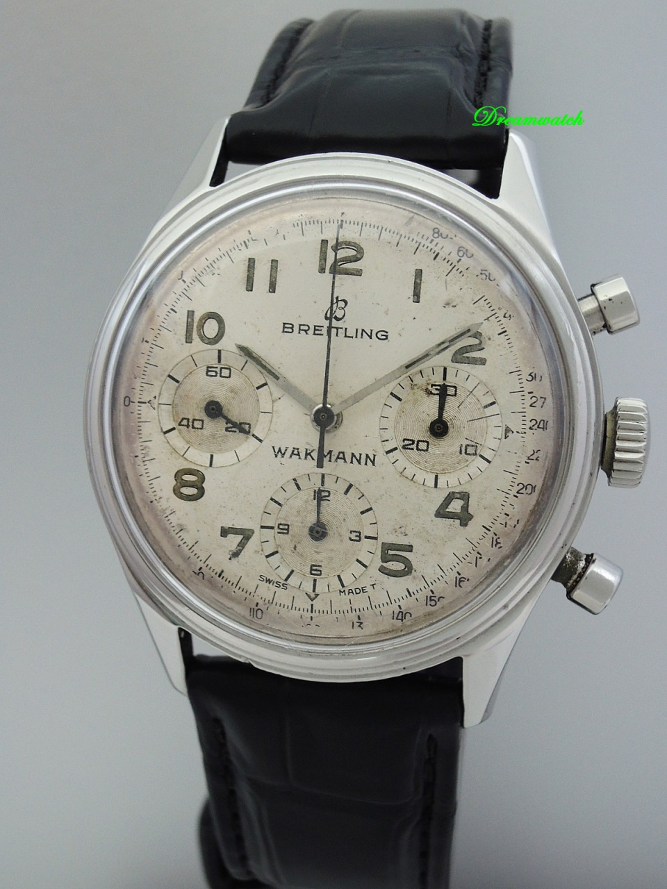 * Very Rare Breitling- Wakmann Chronograph 765 -THE WATCH FROM THE BOOK!