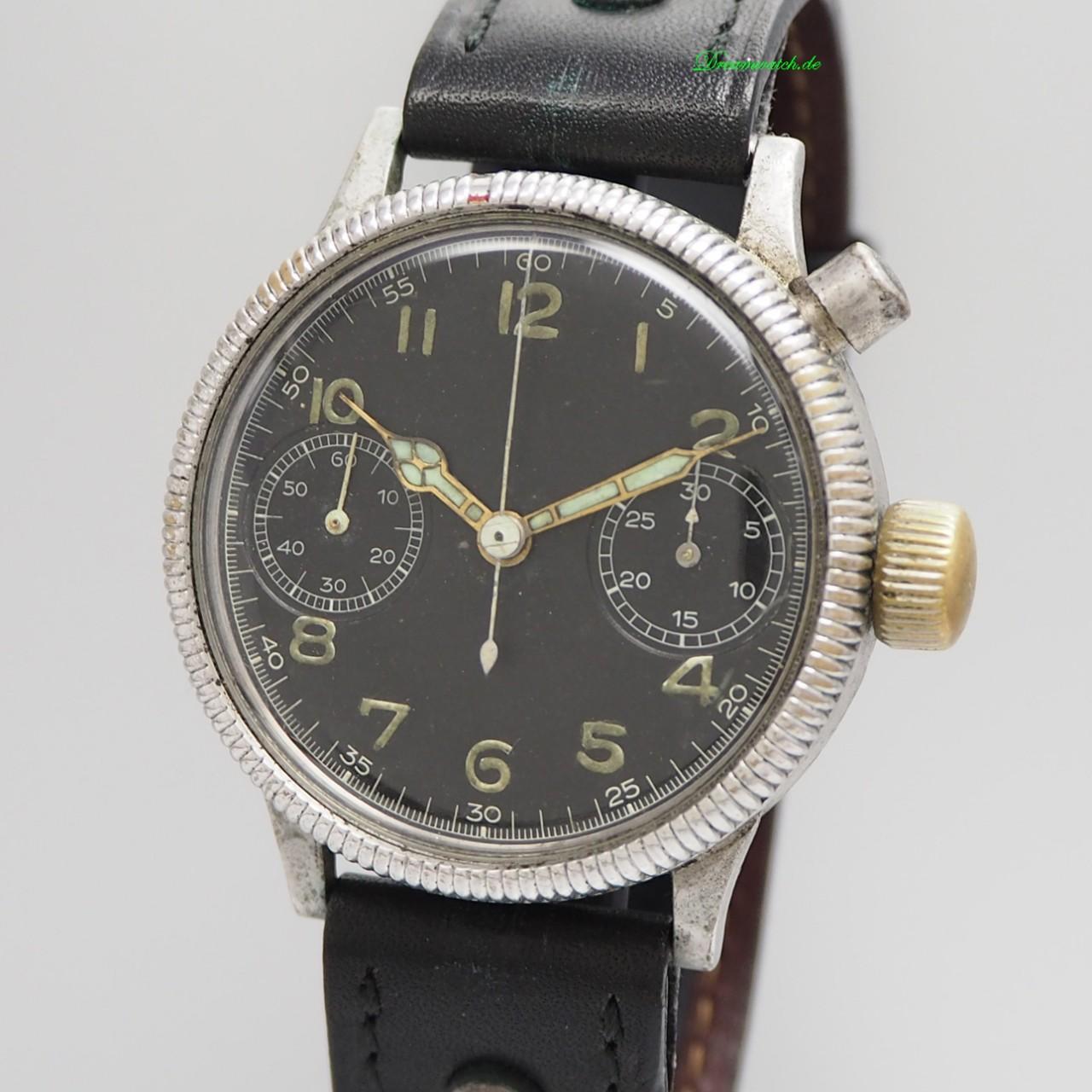 Hanhart Vintage Monopusher/ Eindrücker Chronograph WW2 Cal.40/50 NON BRANDING