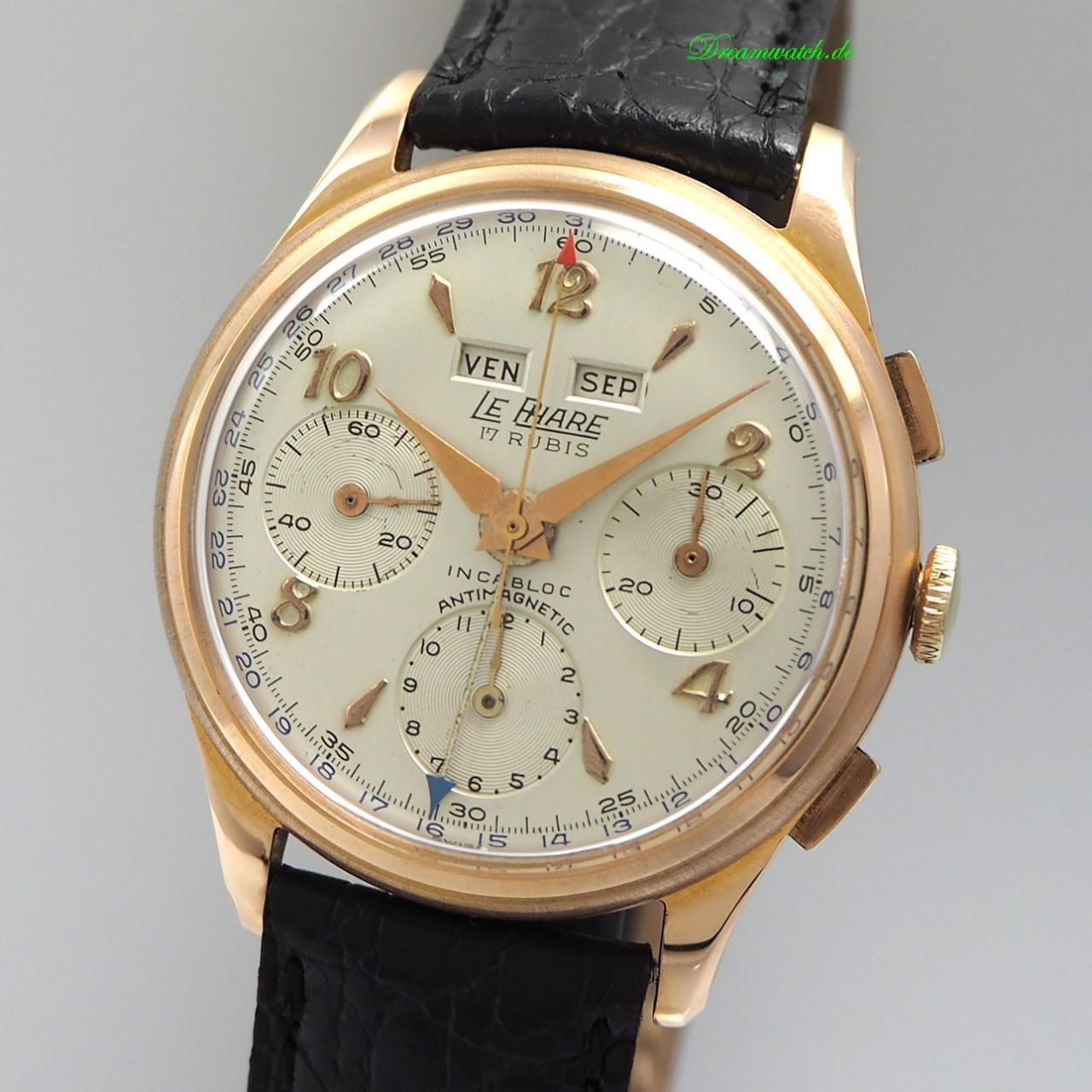 Le Phare Chronograph Vintage Handaufzug Cal.Val.72c Roségold 18k