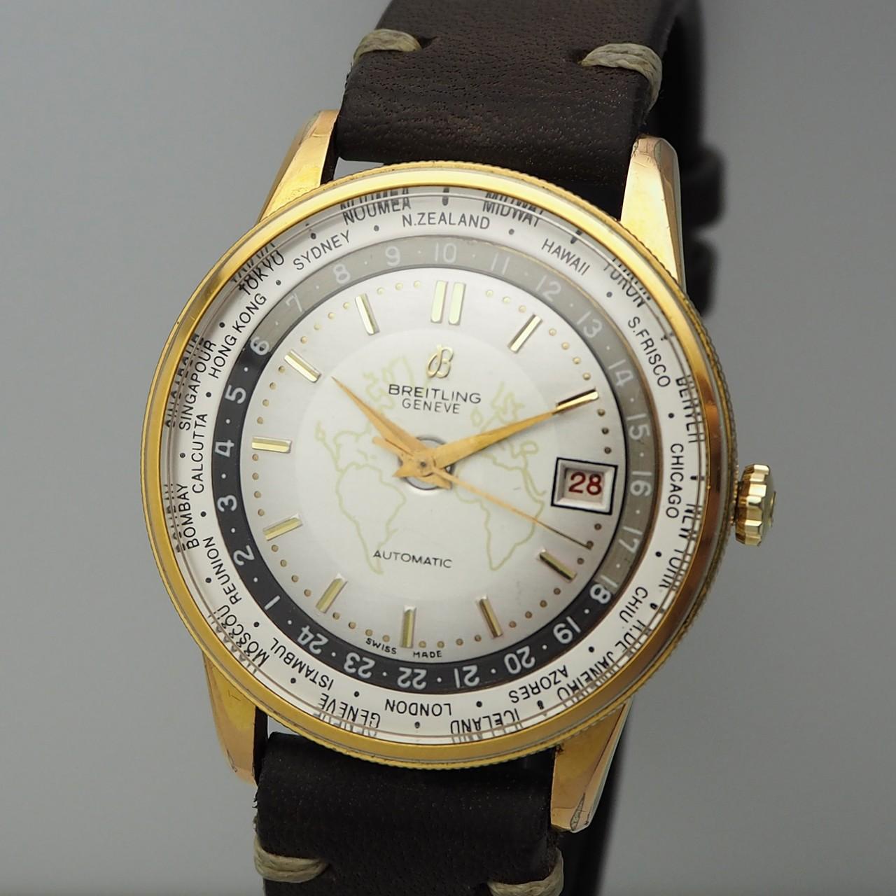 Breitling Unitime Vintage Ref.: 1 260 Bidynator -Felsa 711 Weltzeit Kalender Automatik-