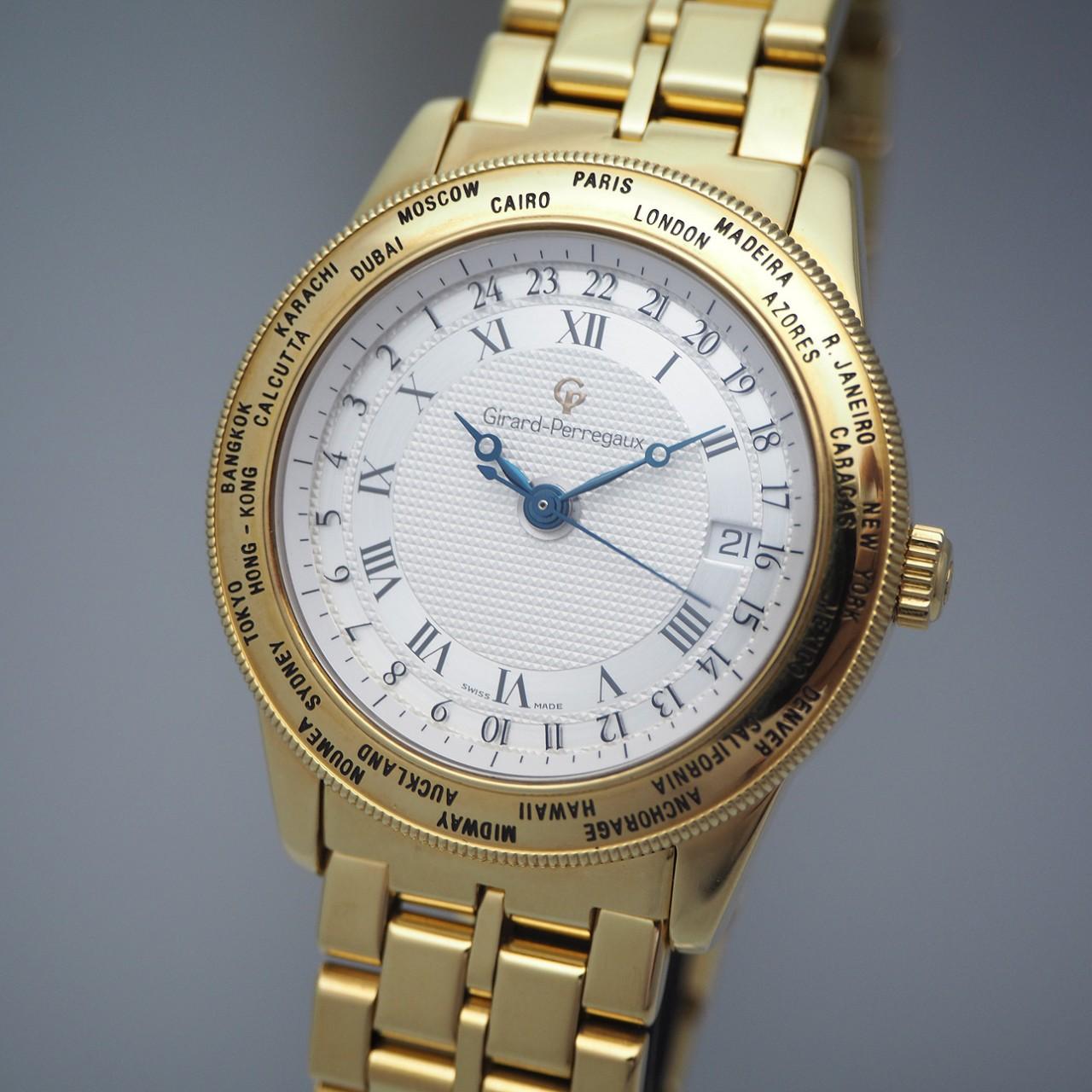 Girard Perregaux World Time Automatik 1010/ GP90, Gold 18k/50
