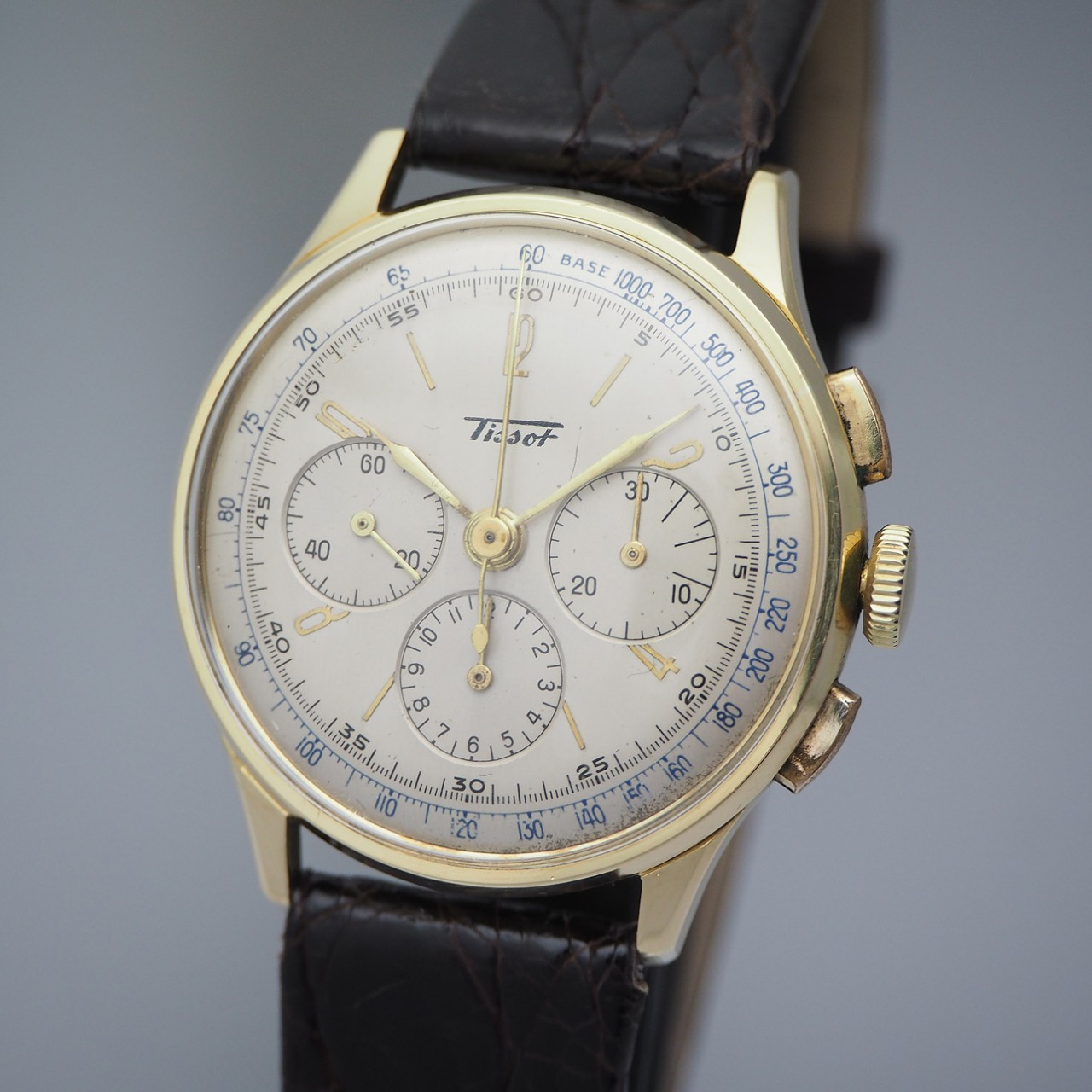 Tissot Chronograph Vintage CH27 18k/750 Gold