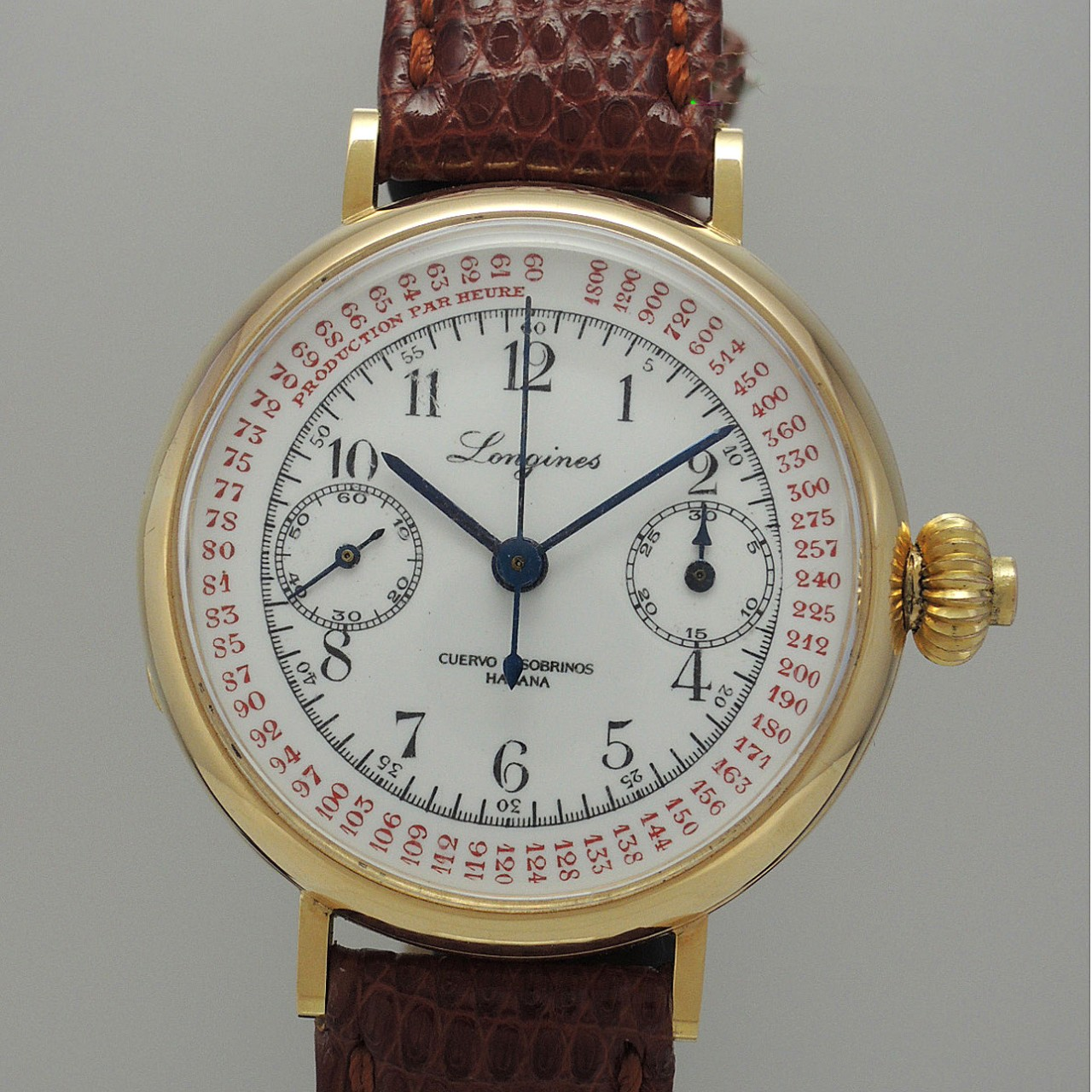 Longines Eberhard Milan Monopusher Chronographe-Compteur Vintage 18k Cal.13.33