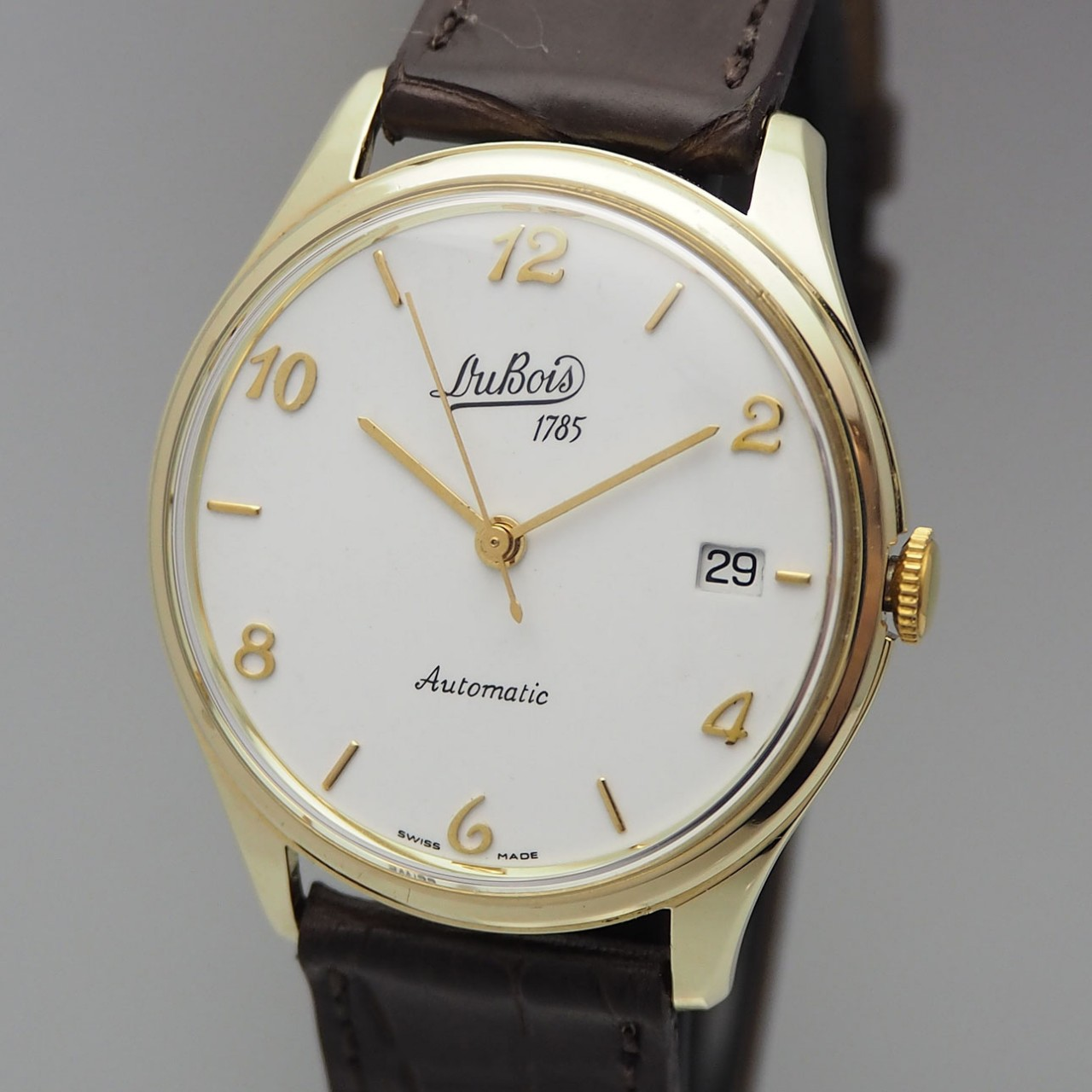 Dubois & Fils Automatik Date Gold 14k/ 585, Calatrava Dress watch very rare