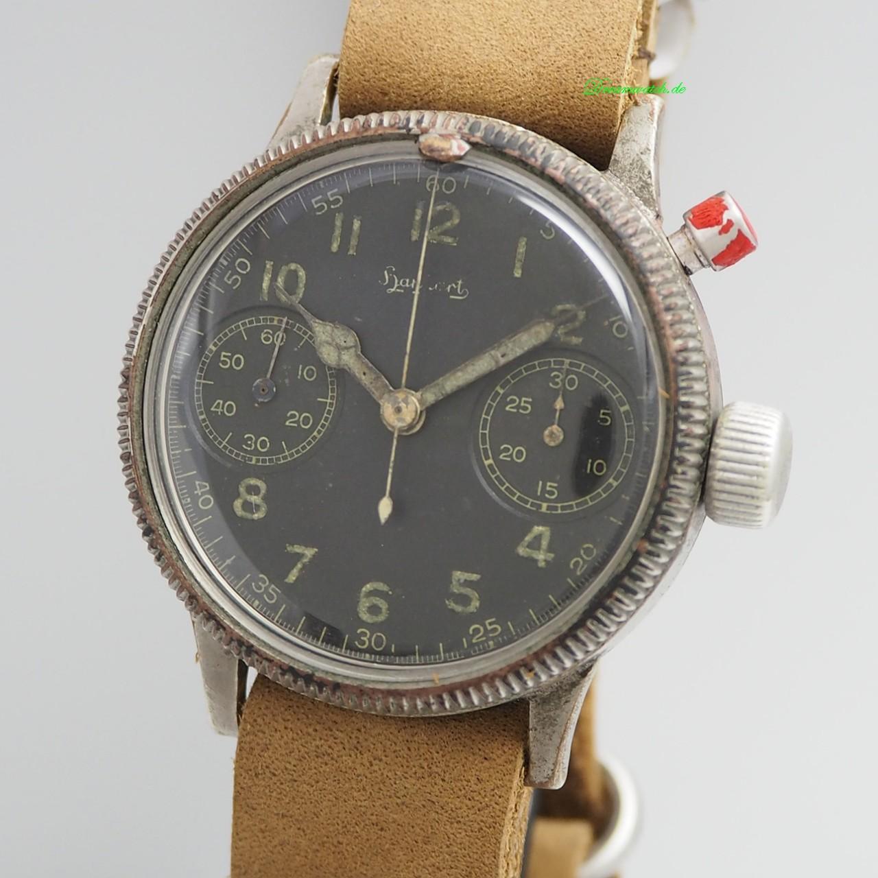 Hanhart Vintage Monopusher/ Eindrücker Chronograph WW2 Cal.40/50