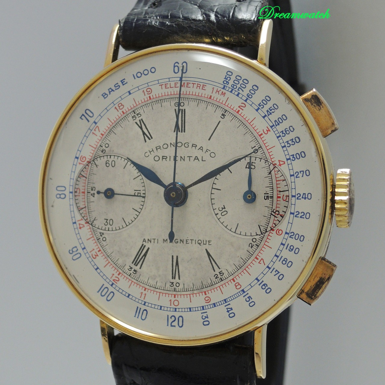 Chronografo Oriental Vintage Angelus 210 18k Gold