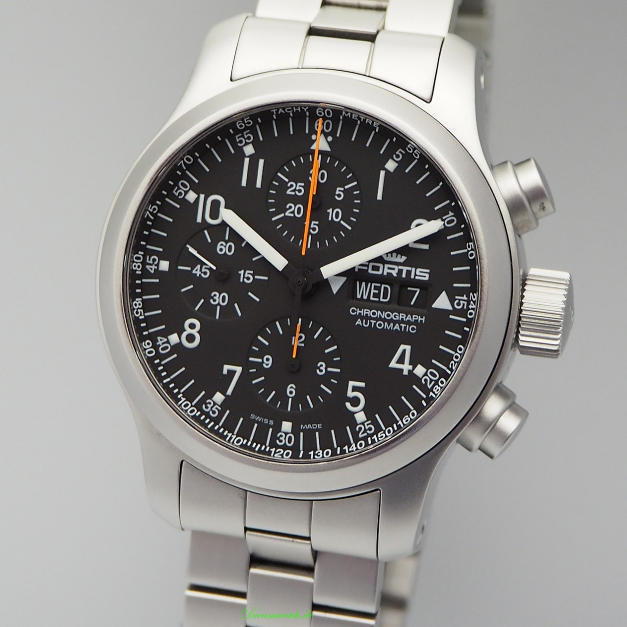 Fortis B-42 Chronograph Stahl/ Stahl, Box+Papiere TOP