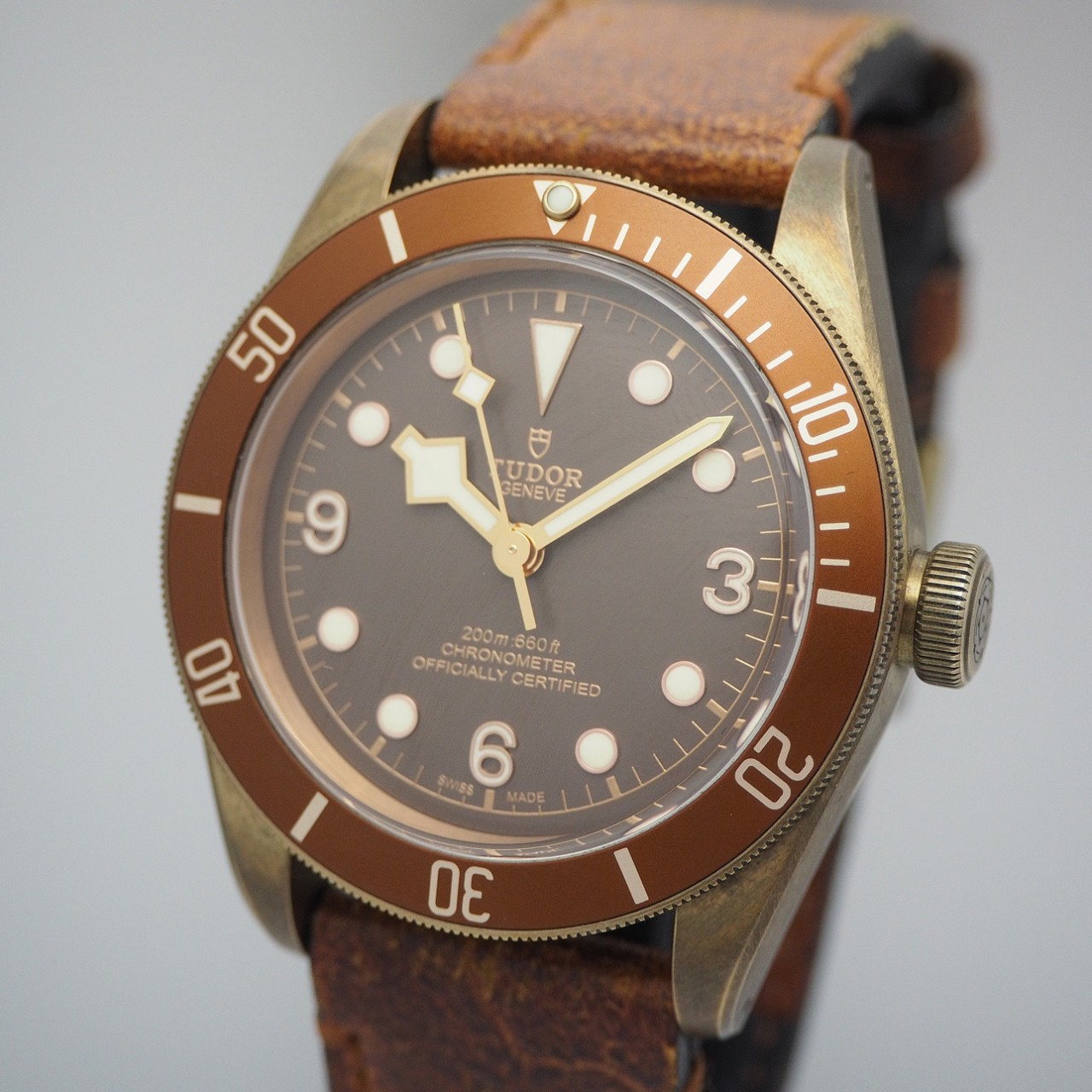 Tudor Black Bay Bronze 79250BM, Bronze/ Leder, Box+Papiere