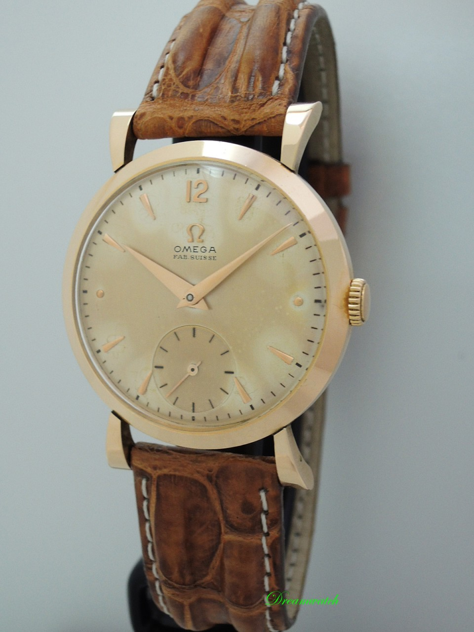 Omega Fab Swiss Vintage Classic Rosegold 18k/750 Cal.361