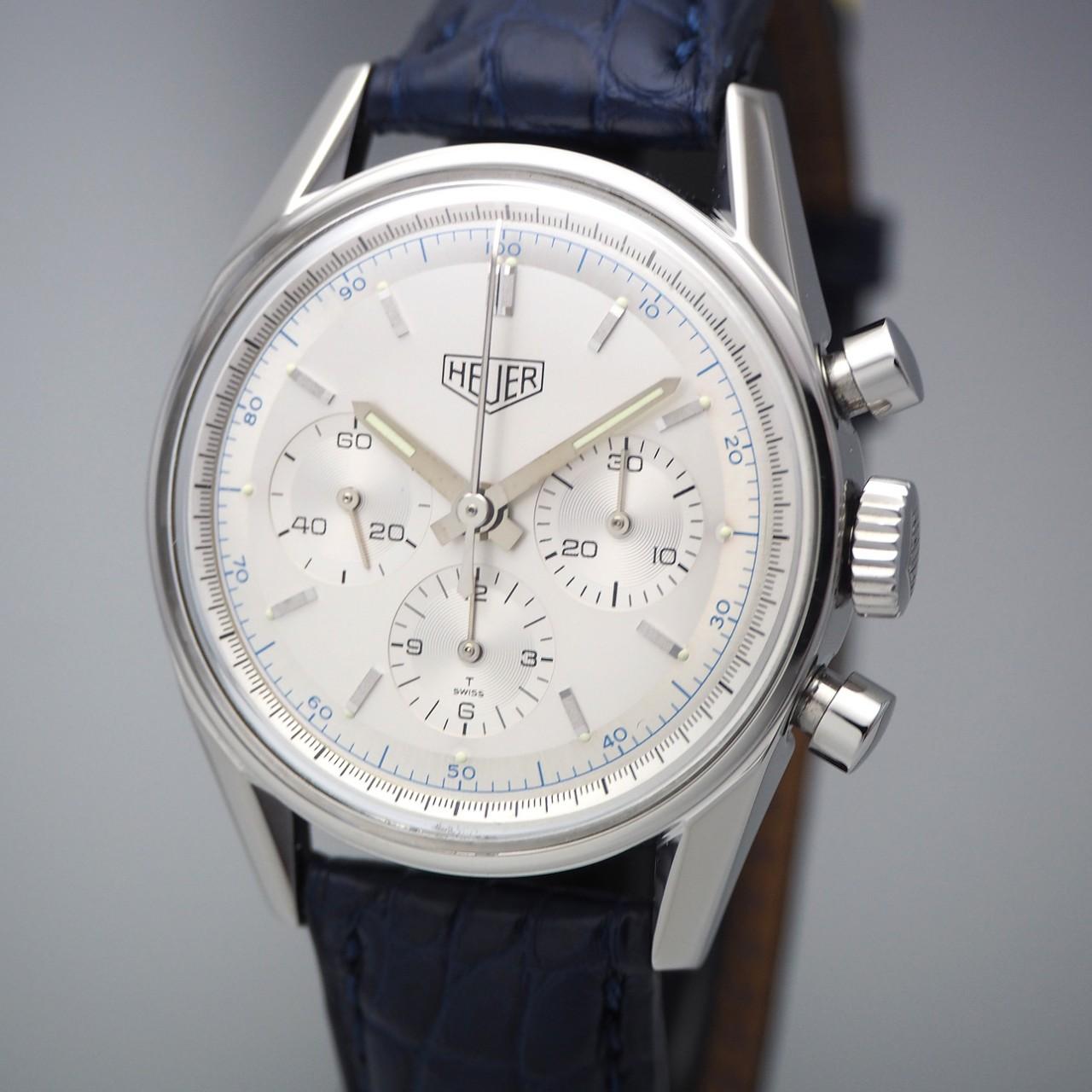 "Tag Heuer 1964 Chronograph ""Classics"" Re-Edition Lemania CS3110, Stahl/Leder, Box +Service"