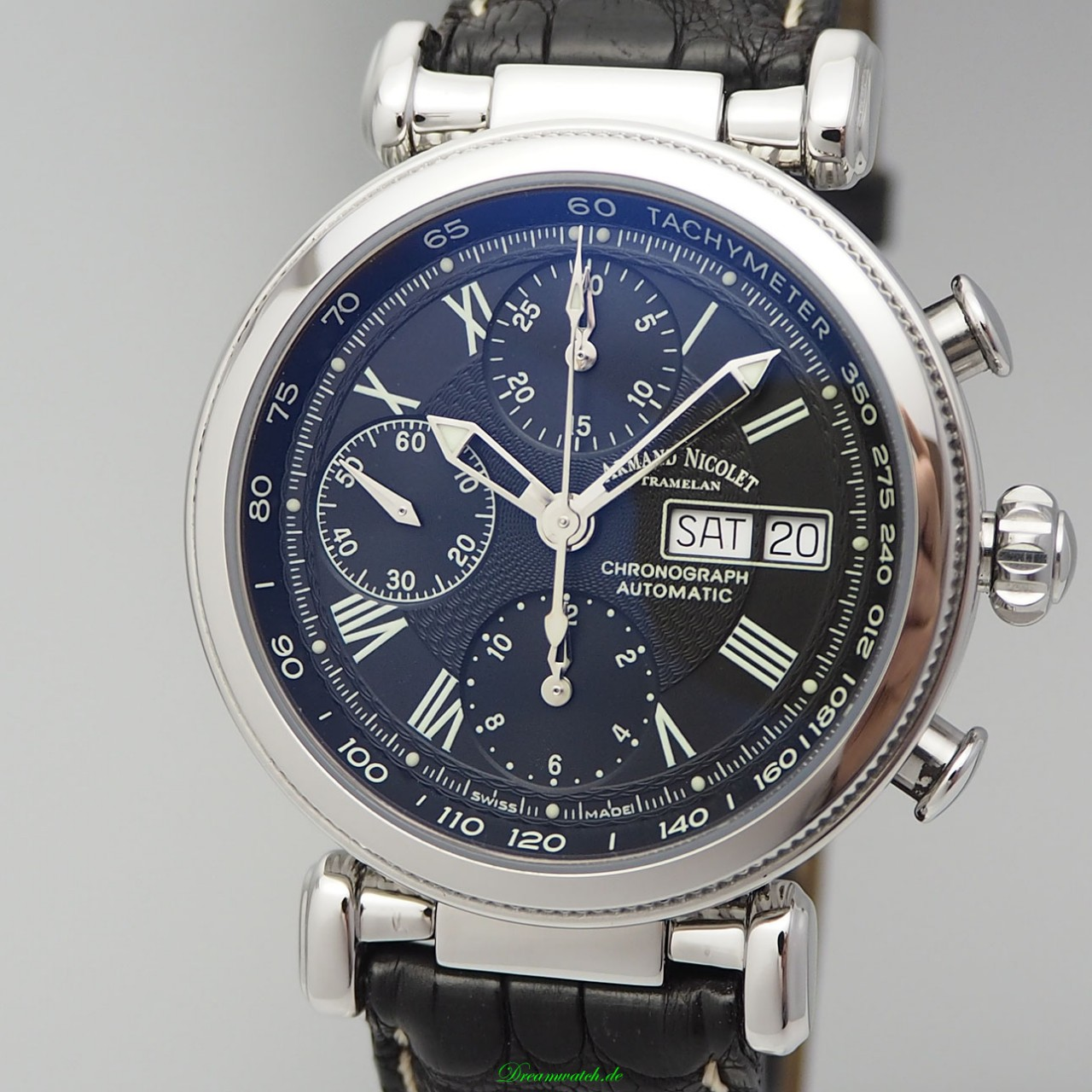 Armand Nicolet ARC Royal Chronograph Day-Date, Box+Papiere NP: 3030 Euro