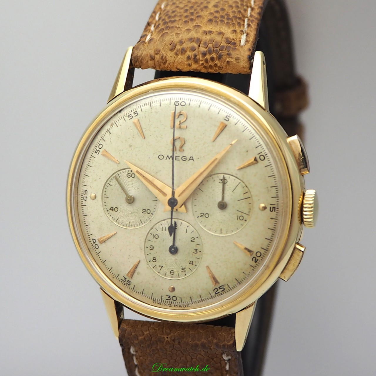 Omega Vintage Chronograph 3-Register Ref.: 2279 / Cal. 321 -18k/ 750 Gold from 1956