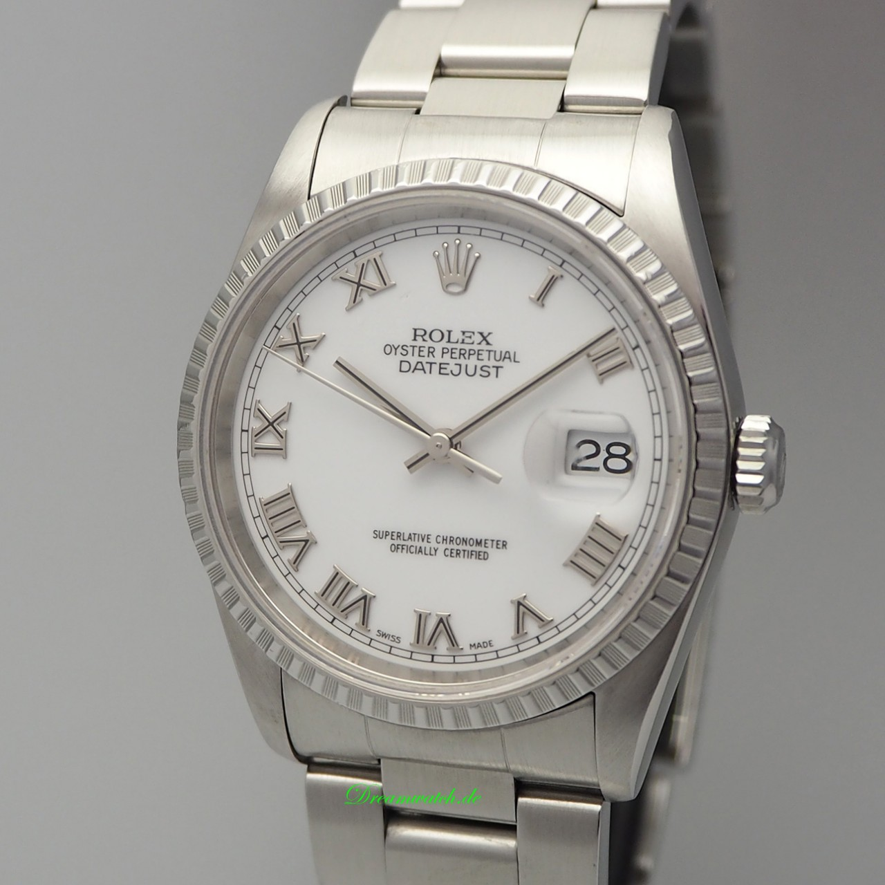 Rolex Oyster Perpetual Datejust 16220 Stahl/ Stahl, aus 2001/2002 top condition