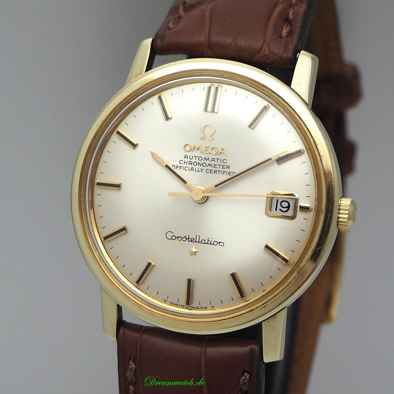 "Omega Constellation Vintage Automatik ""Waterproof case"" -Gold 14k/ 585/ 168.010"