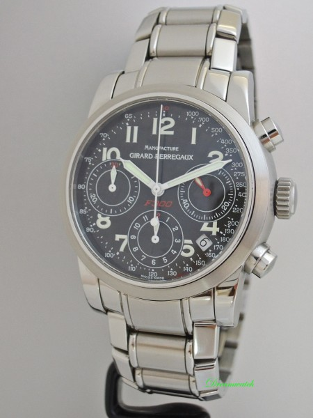 Girard Perregaux Sport Classic Chronograph Carbon-Dial -Serviced