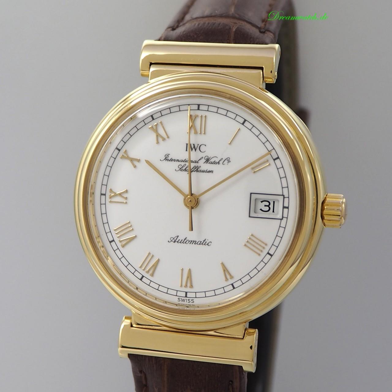 IWC Da-Vinci Automatik Ref.: 1850 -18k/750 Gold/ Leder